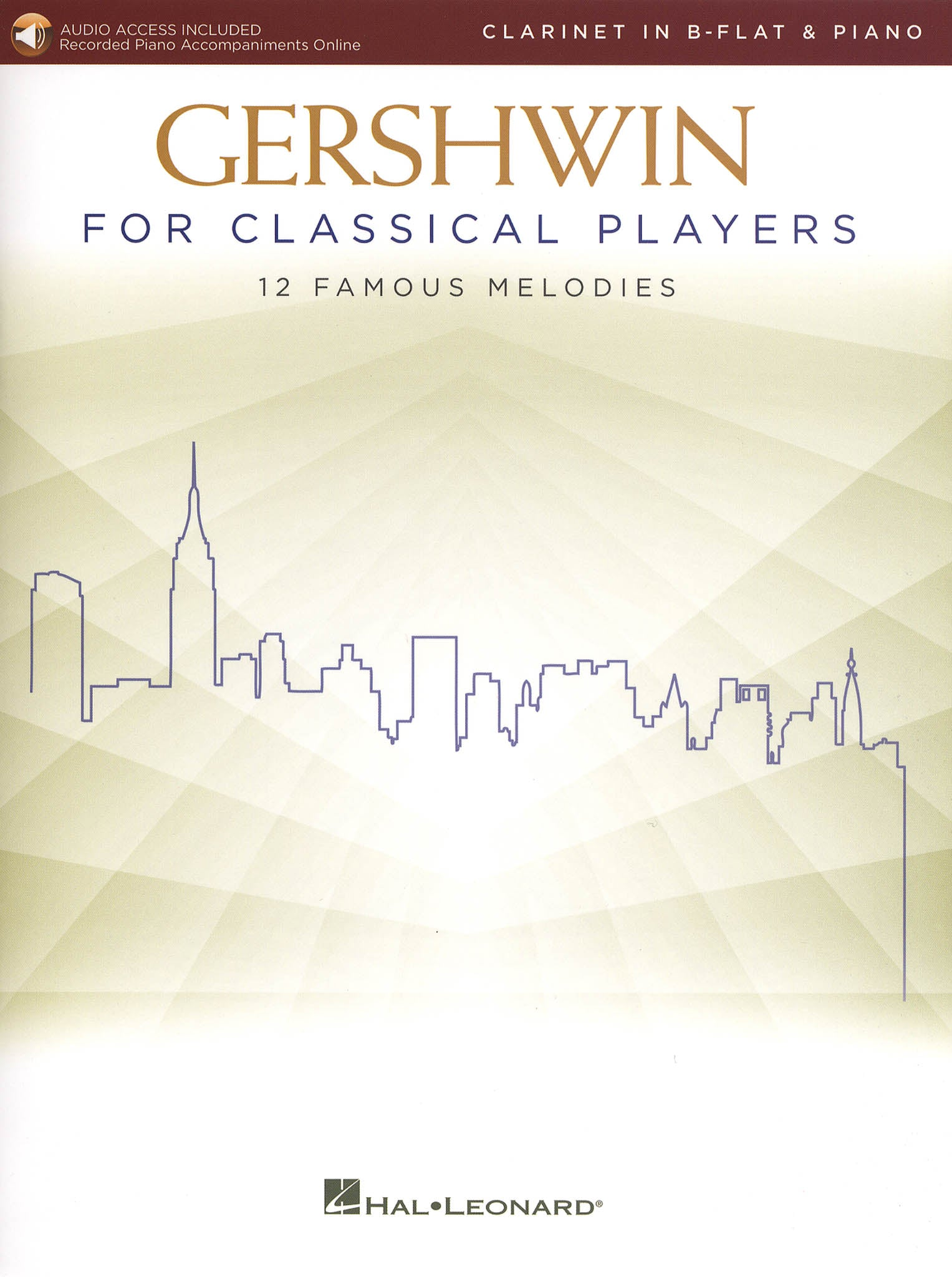 Gershwin for Classical Players Clarinet & Piano Arrangements Cover