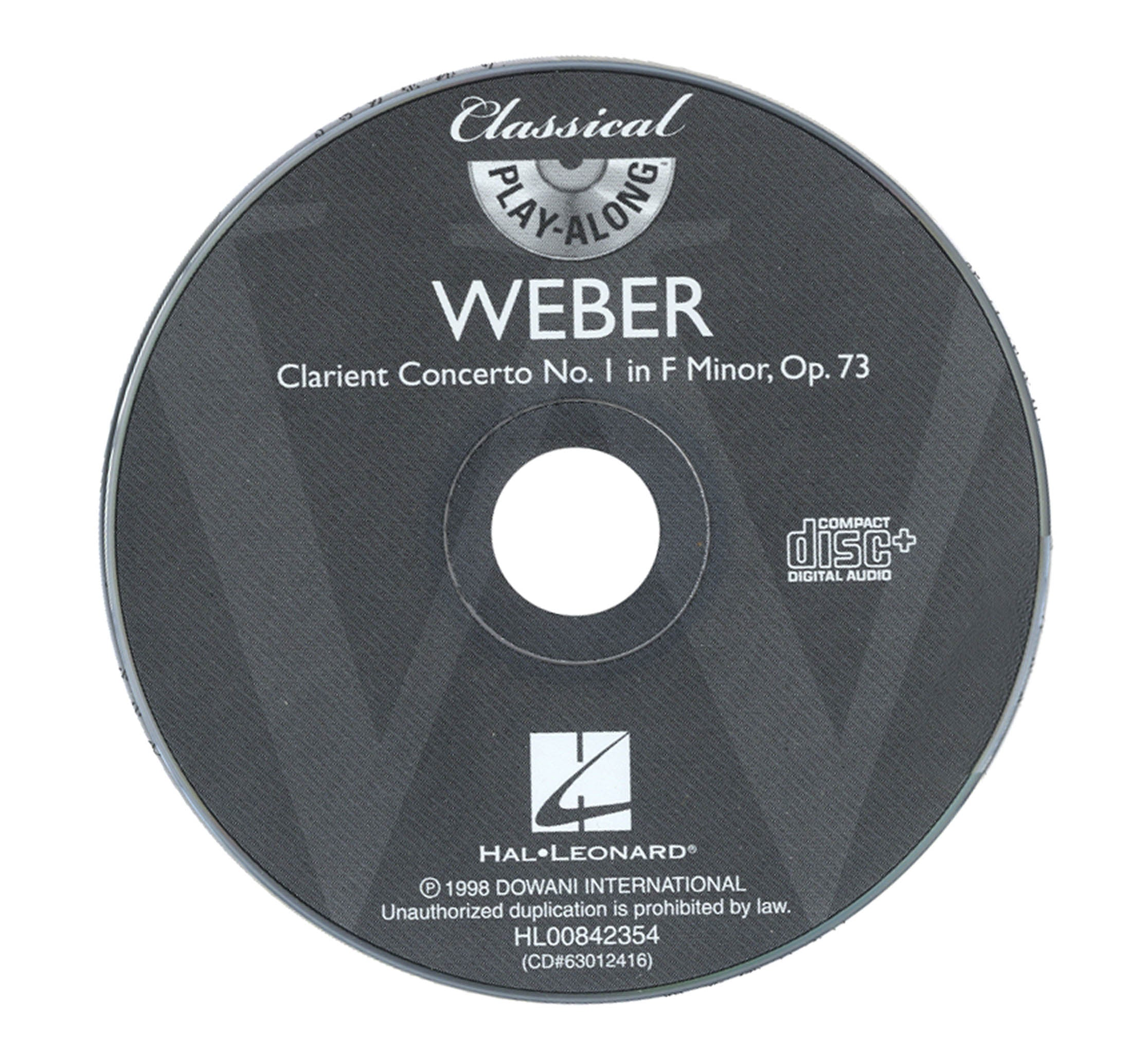 Clarinet Concerto No. 1 in F Minor, Op. 73 CD