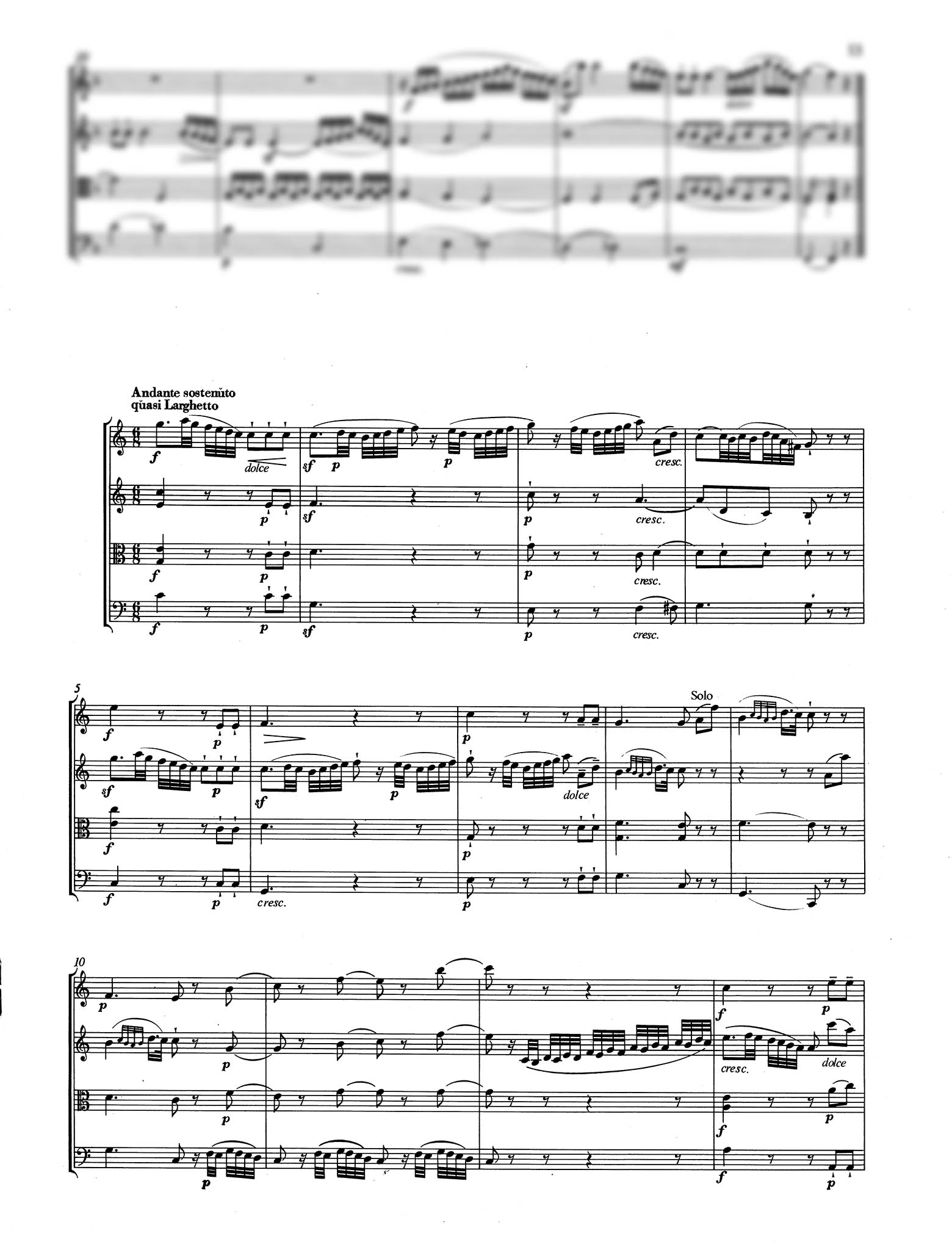 Piano Trio No. 1 in G Major, K. 496 - Movement 2