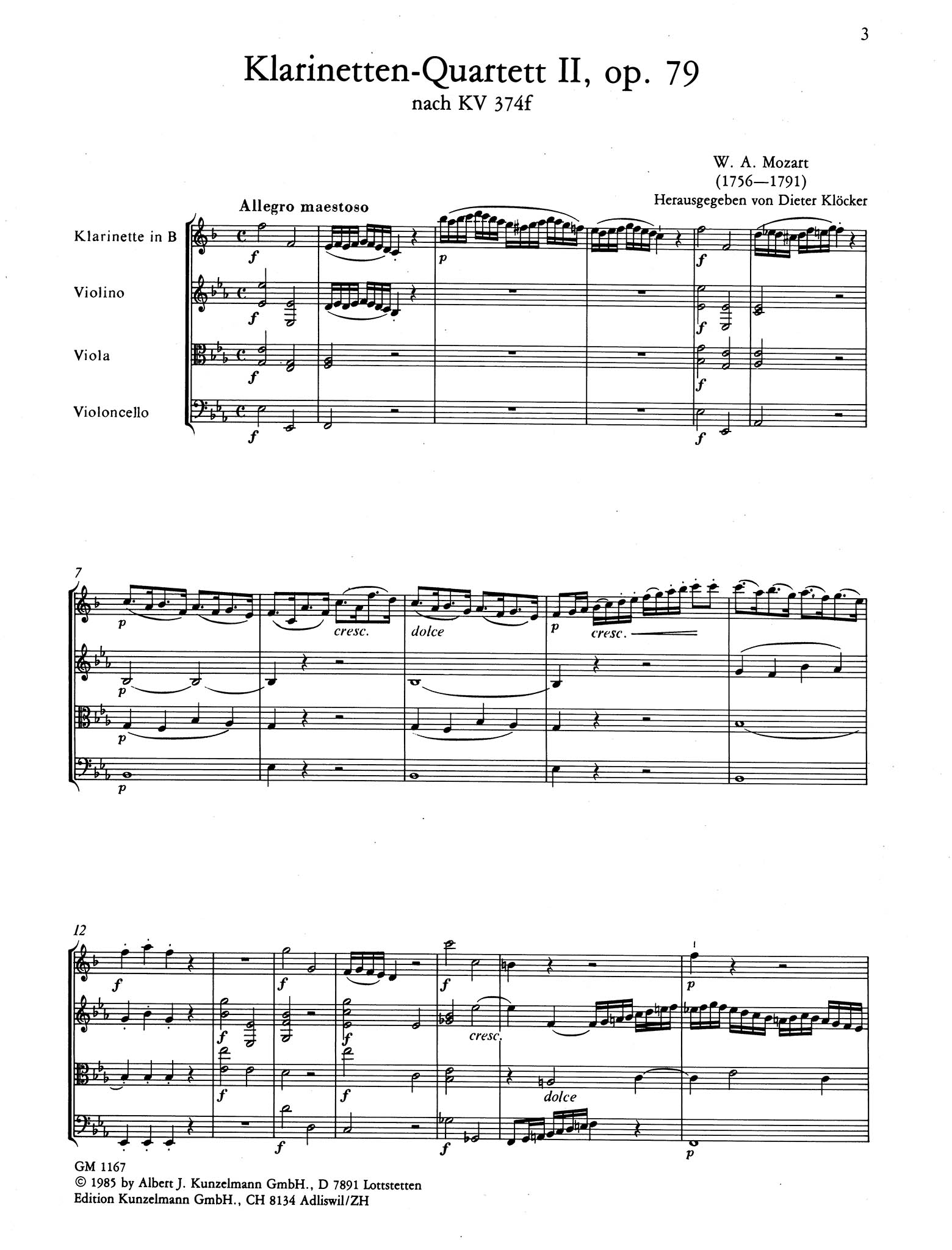 Violin Sonata in E-Flat Major, K. 380/374f - Movement 1