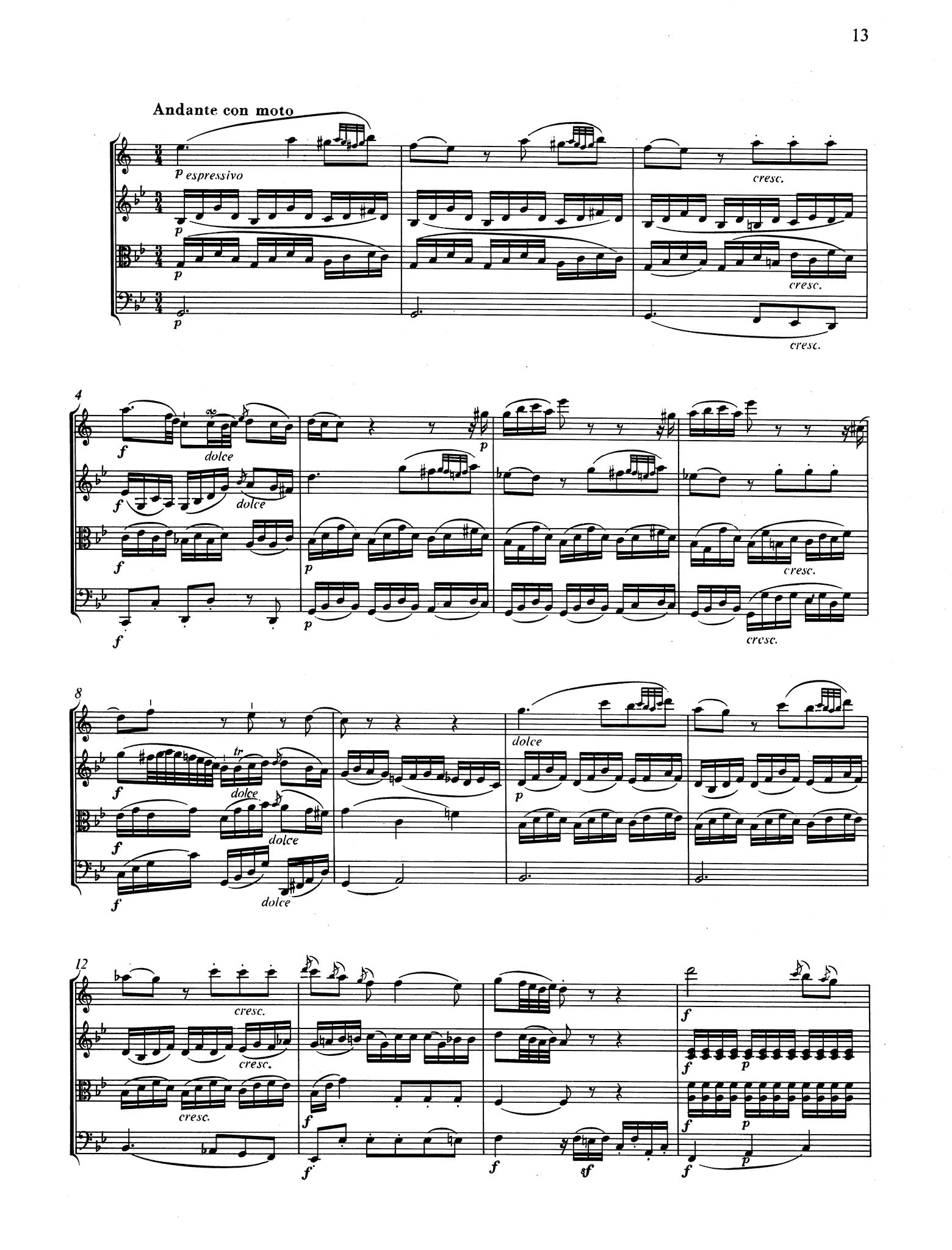 Violin Sonata in E-Flat Major, K. 380/374f - Movement 2