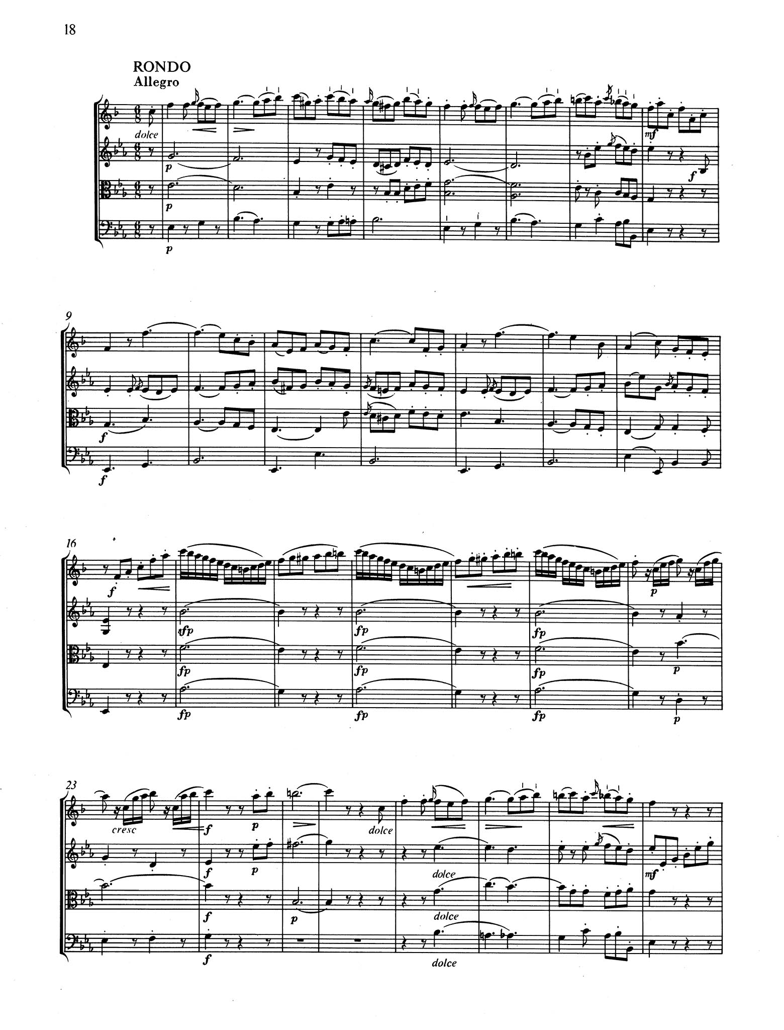 Violin Sonata in E-Flat Major, K. 380/374f - Movement 3