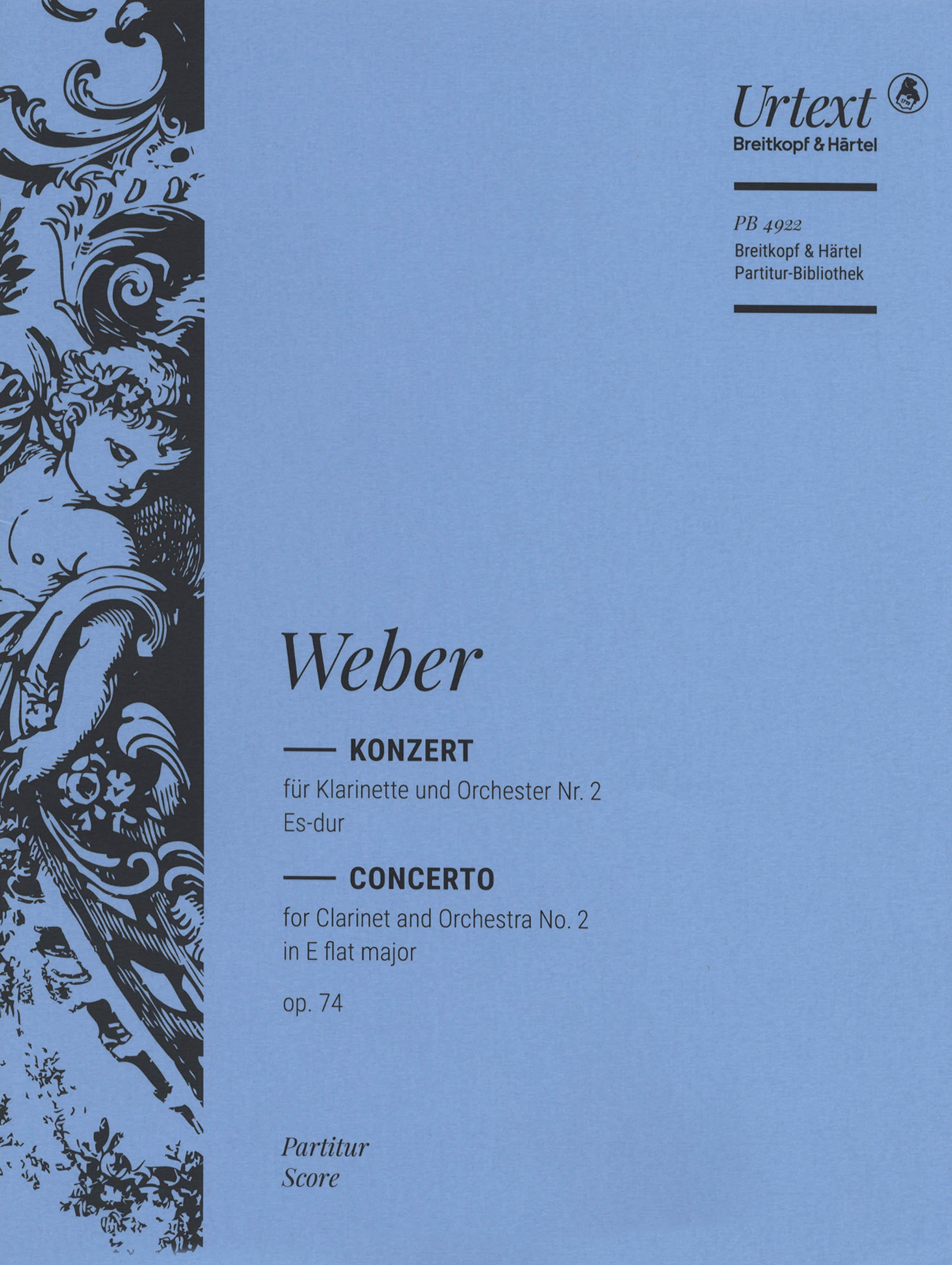 Clarinet Concerto No. 2, Op. 74 Full Score Cover