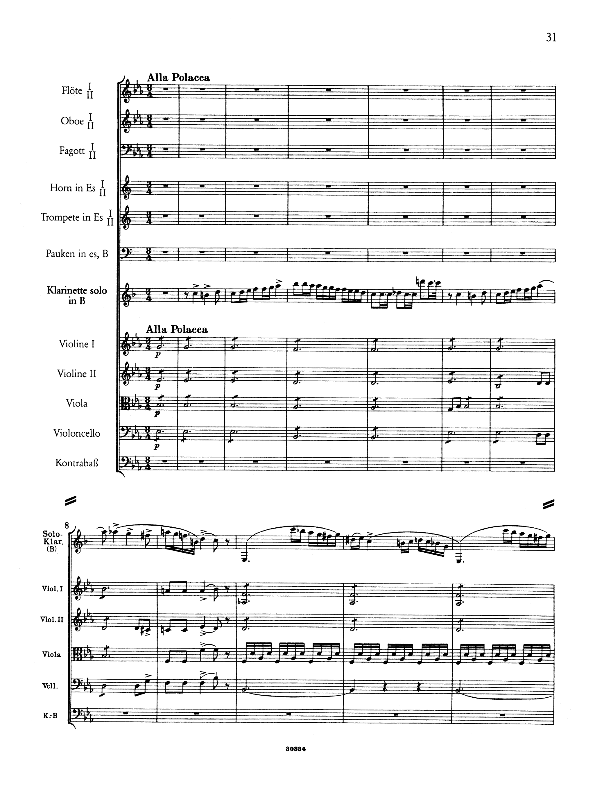 Clarinet Concerto No. 2, Op. 74 Full Score - Movement 3