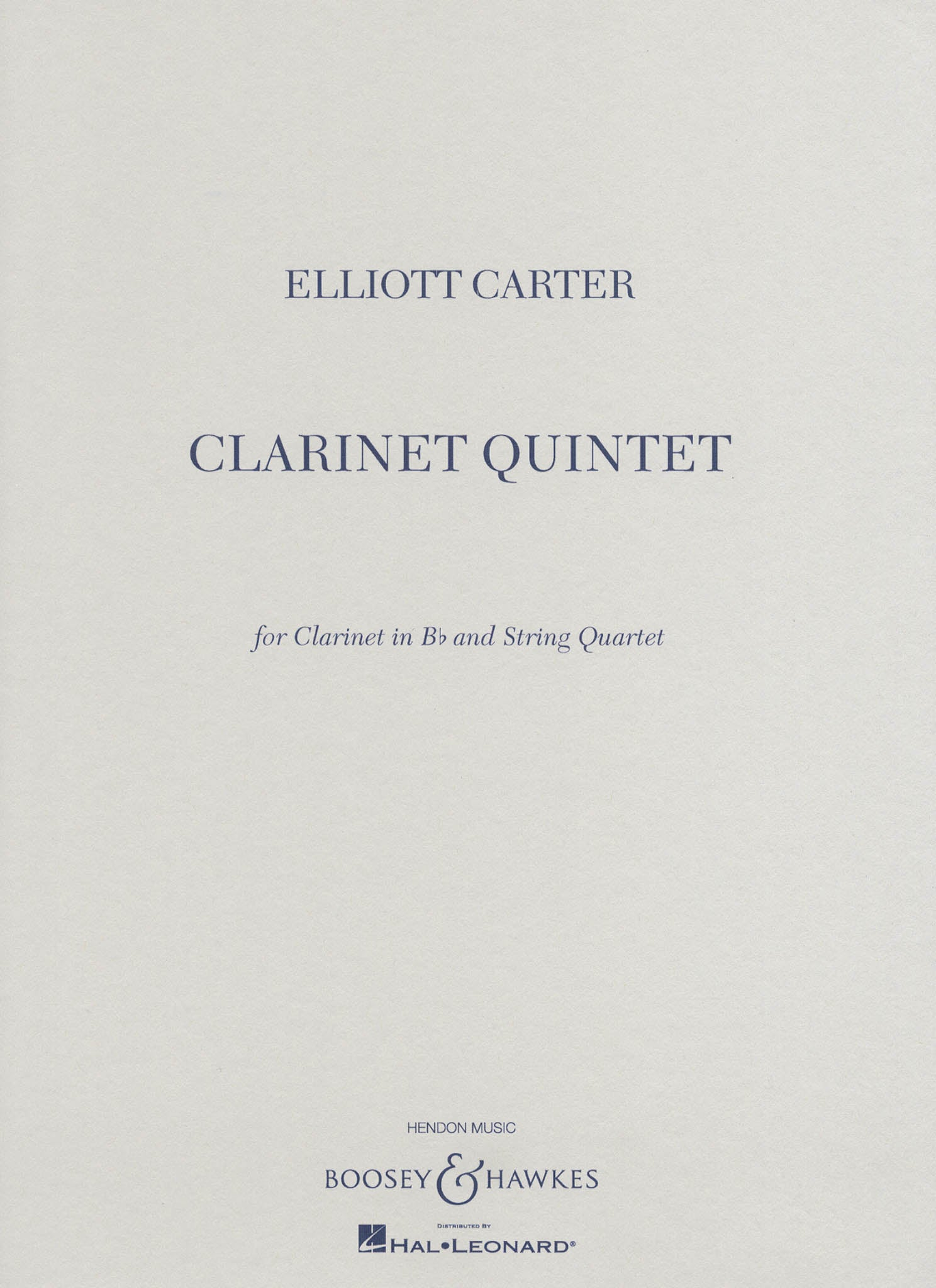 Clarinet Quintet Cover