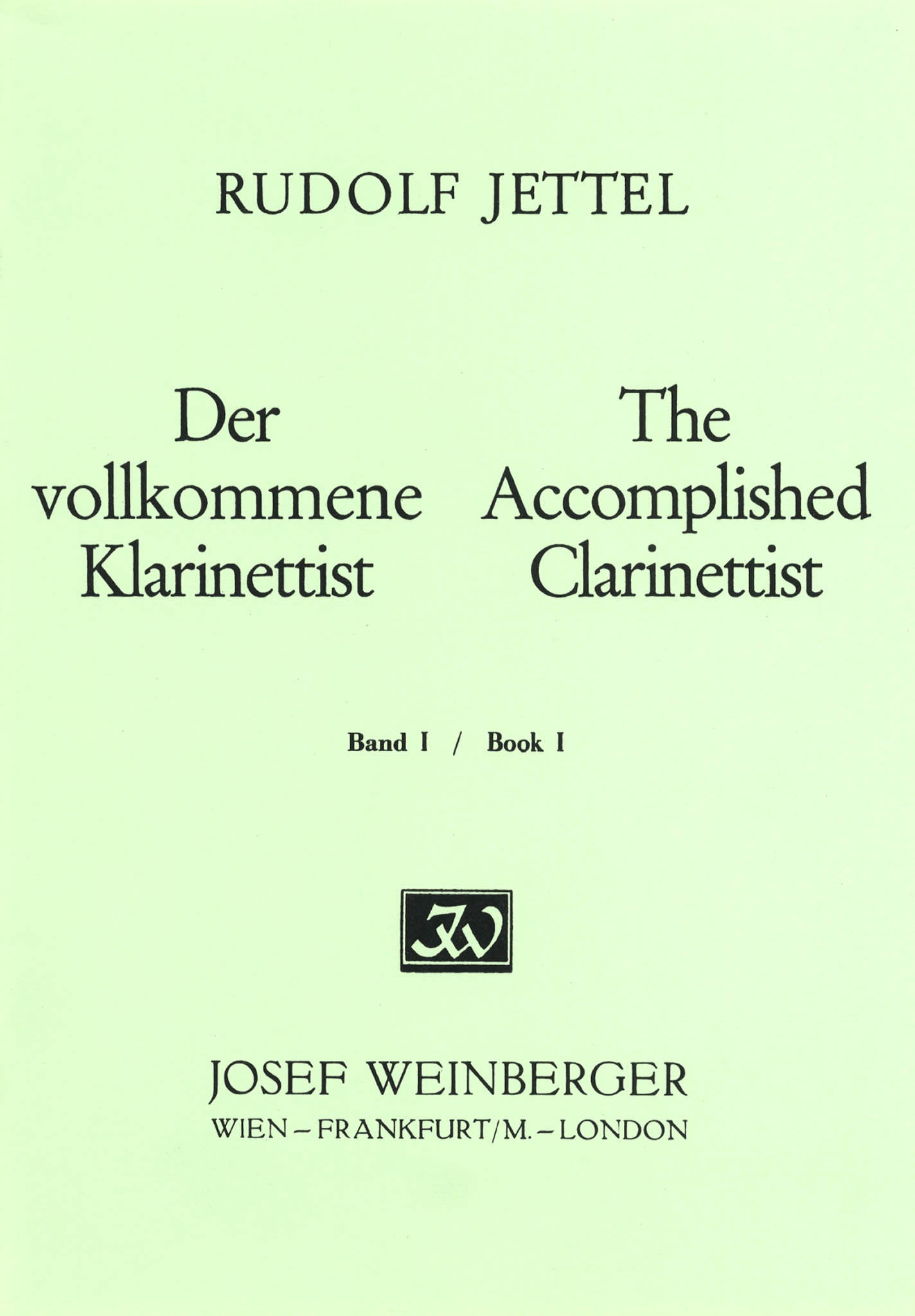 The Accomplished Clarinettist, Book 1 Cover