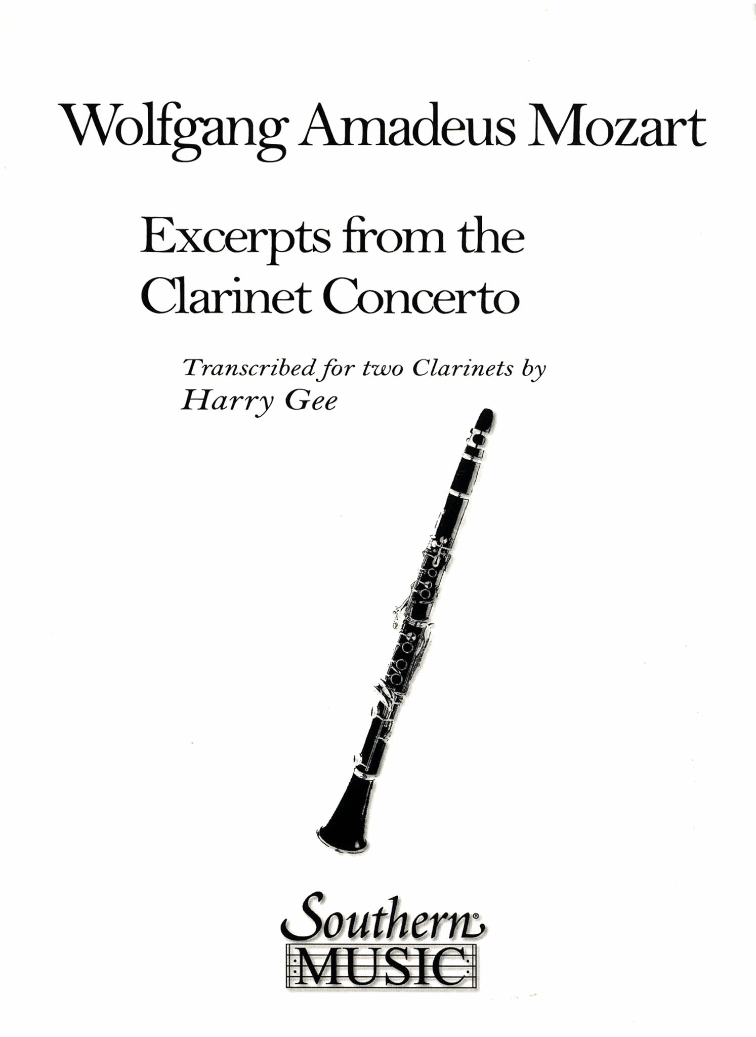Clarinet Concerto in A Major, K. 622 for 2 Clarinets Cover