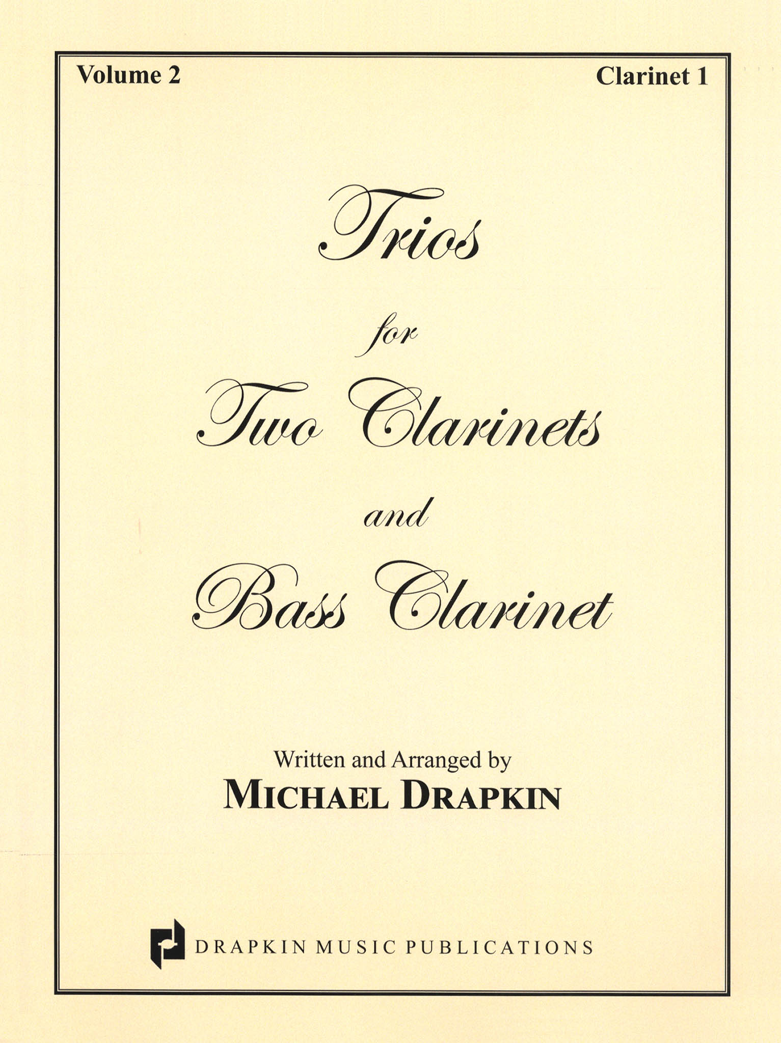 Drapkin Clarinet Trios Volume 2 (parts) Cover