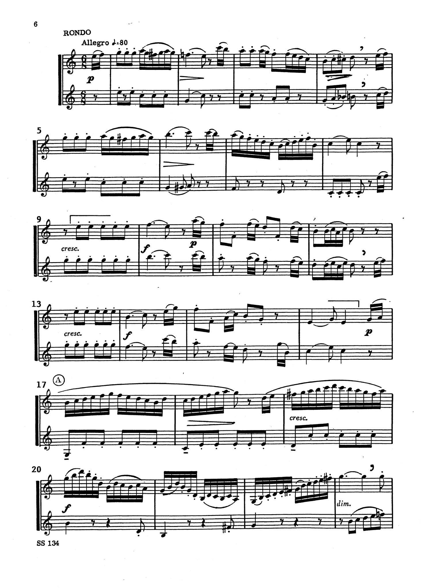 Clarinet Concerto in A Major, K. 622 for 2 Clarinets - Movement 3