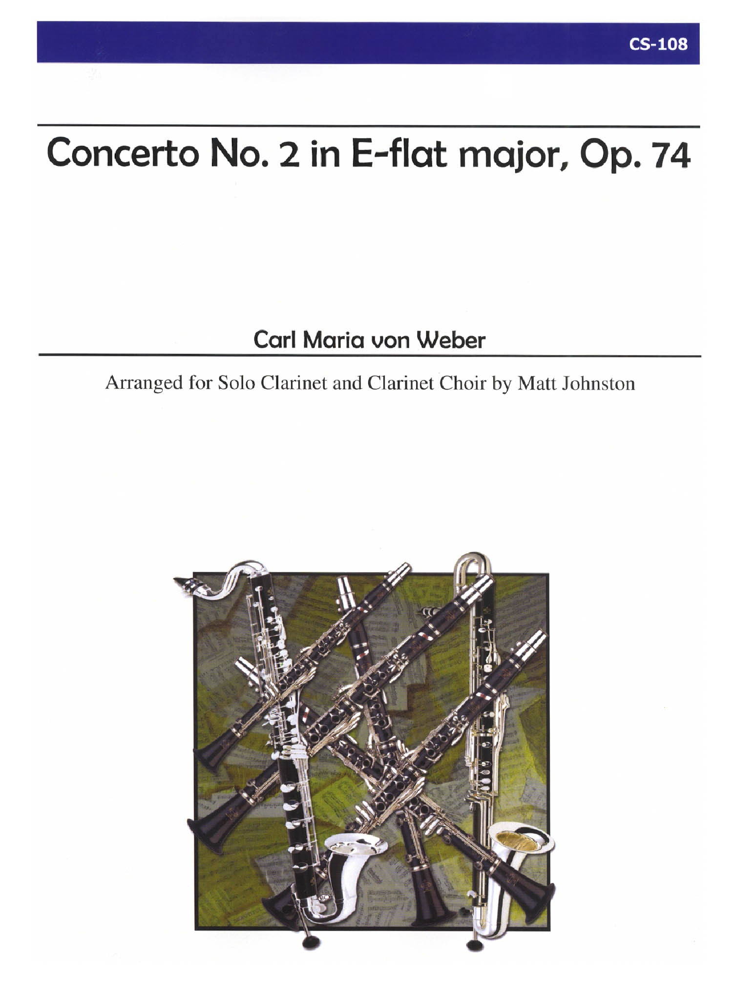 Weber Clarinet Concerto No. 2 for Clarinet Choir Cover