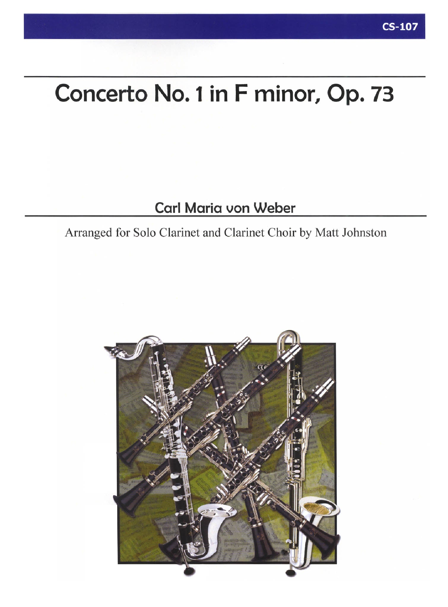 Weber Clarinet Concerto No. 1 for Clarinet Choir Cover