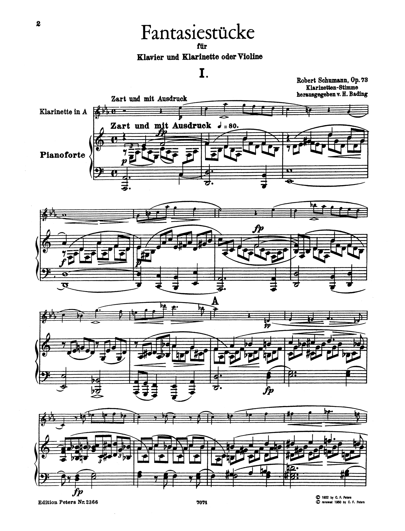 Fantasiestücke, Op. 73 - Movement 1