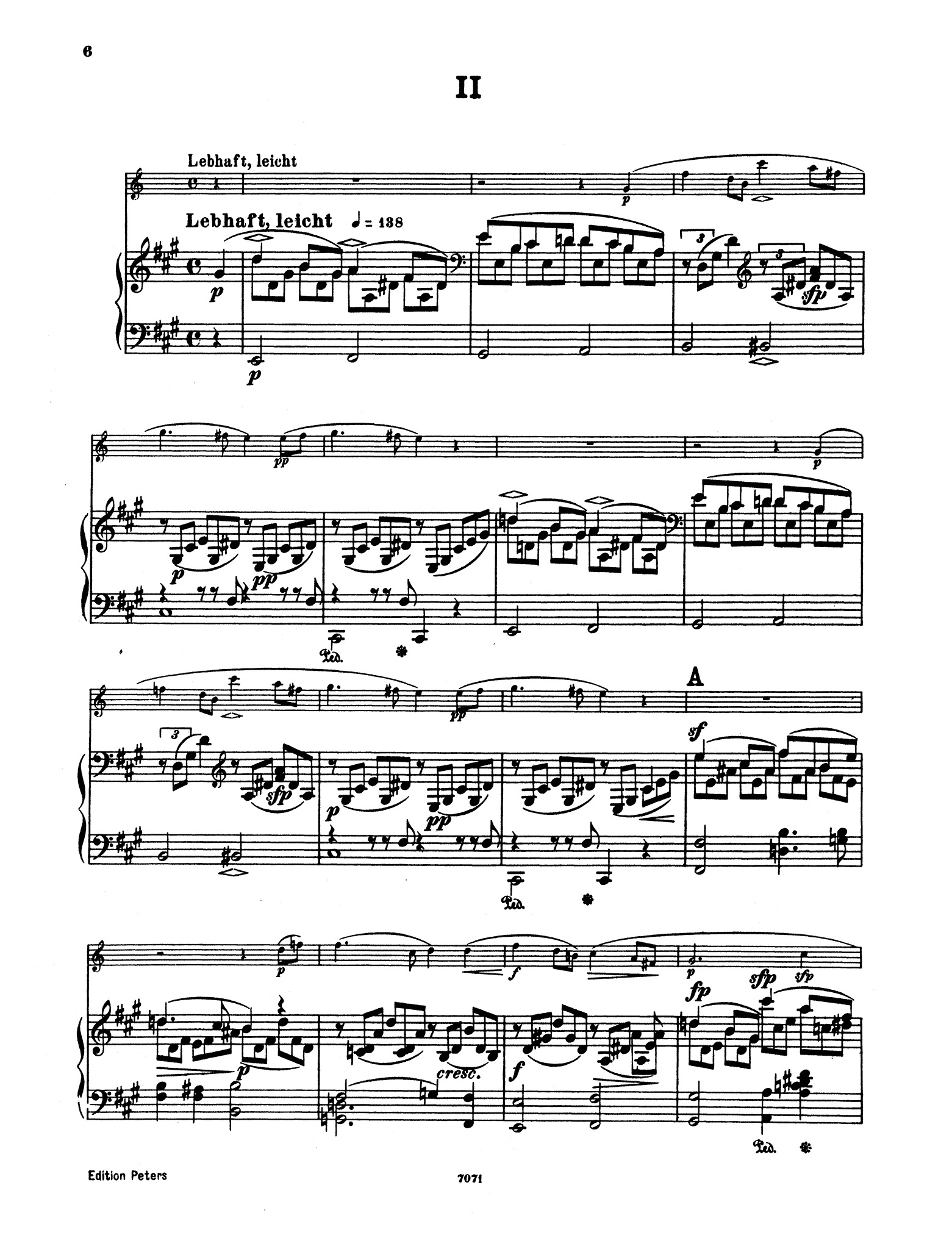 Fantasiestücke, Op. 73 - Movement 2