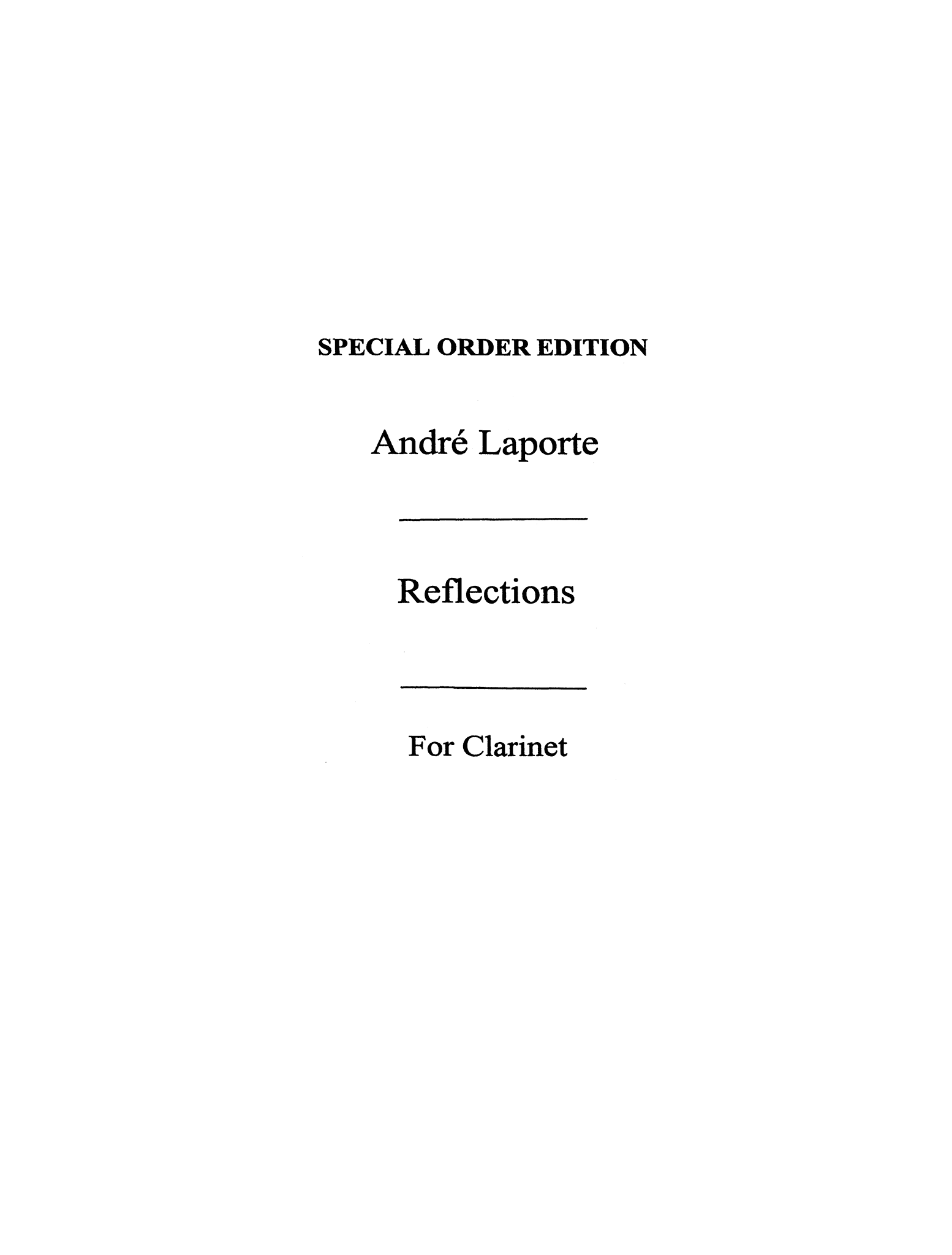 Laporte Reflections Cover