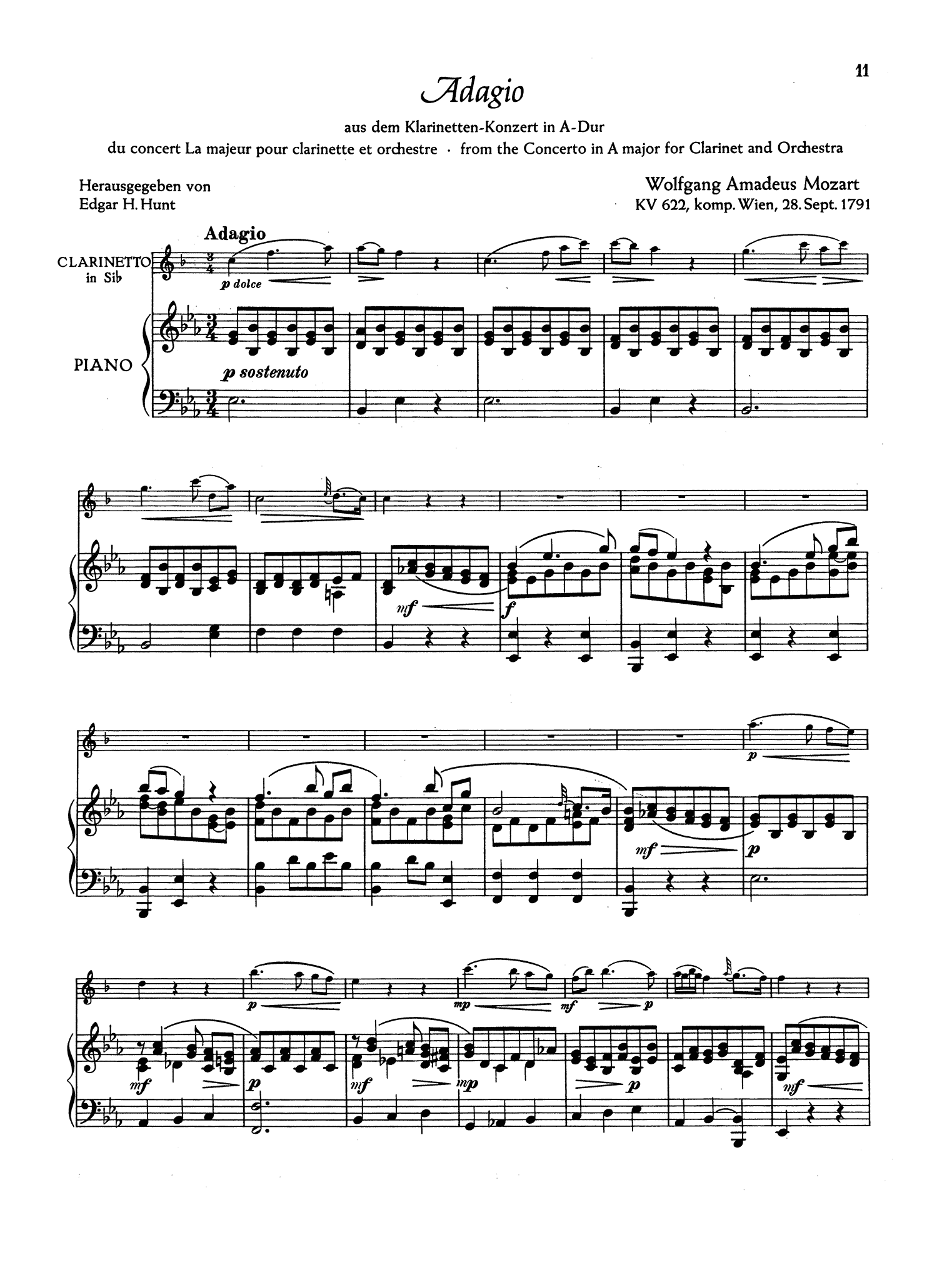 Mozart Clarinet Concerto - Movement 2