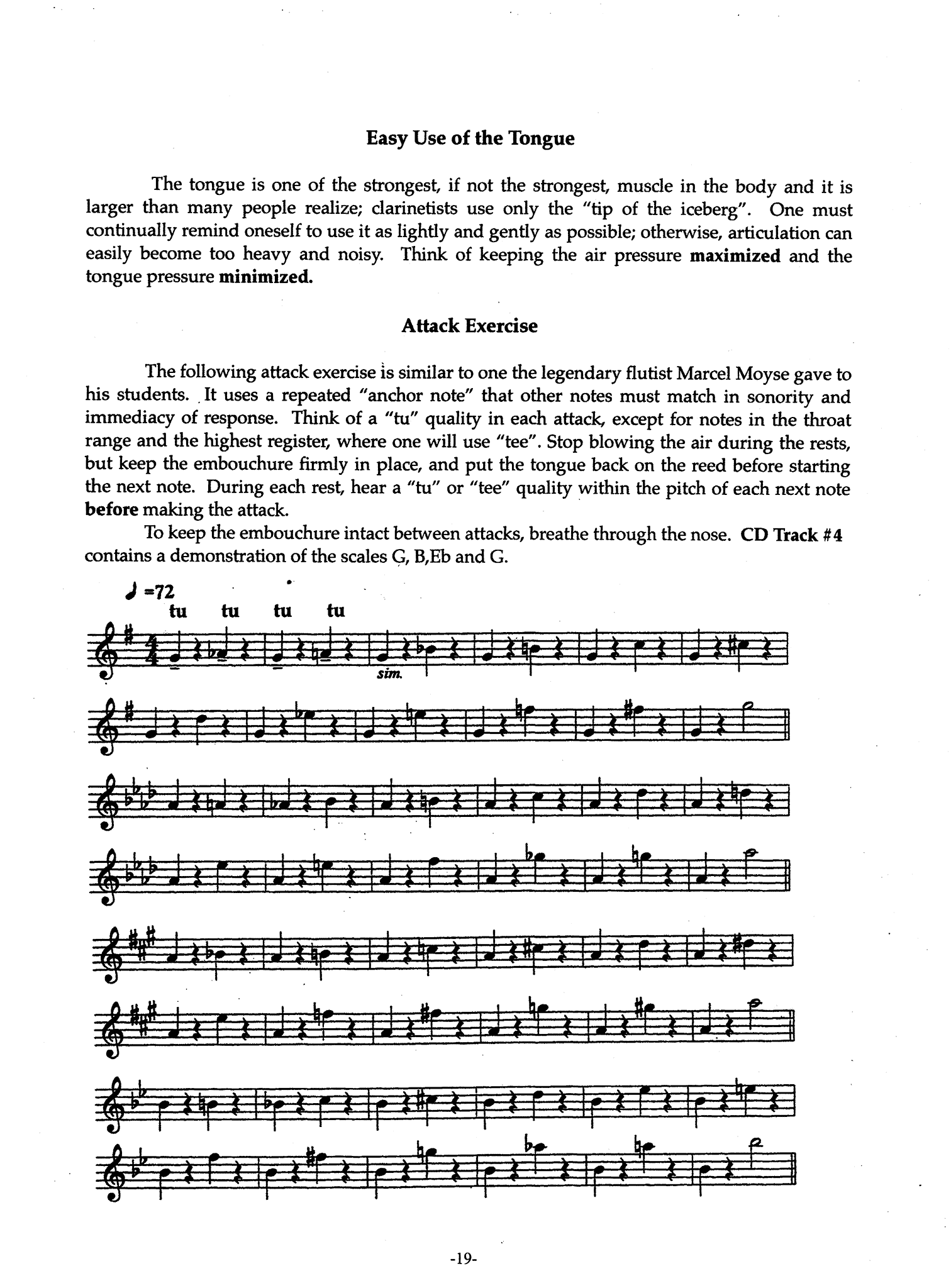 Articulation Development for Clarinetists Page 19