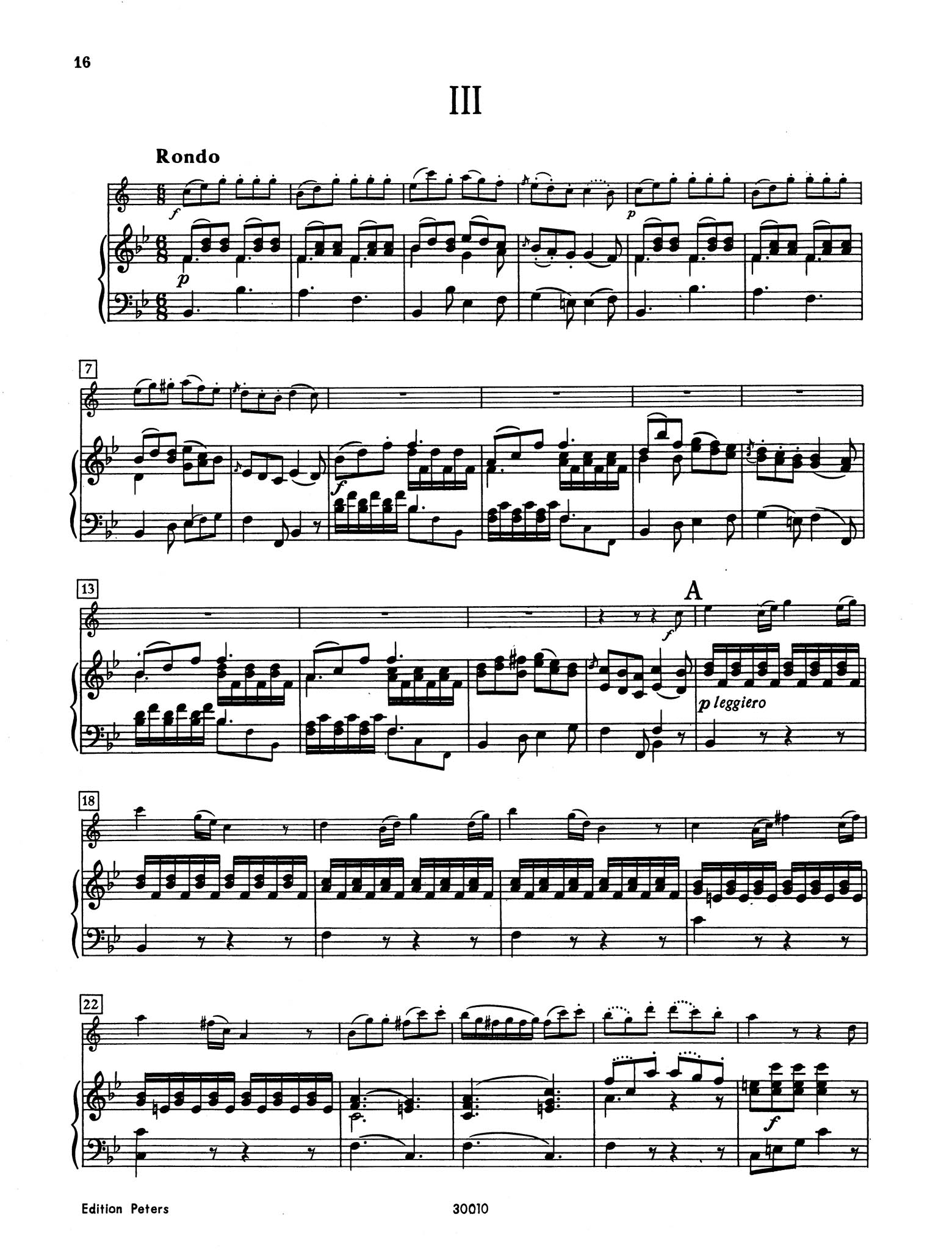 Clarinet Concerto No. 7 (Kaiser) in B-flat Major - Movement 3