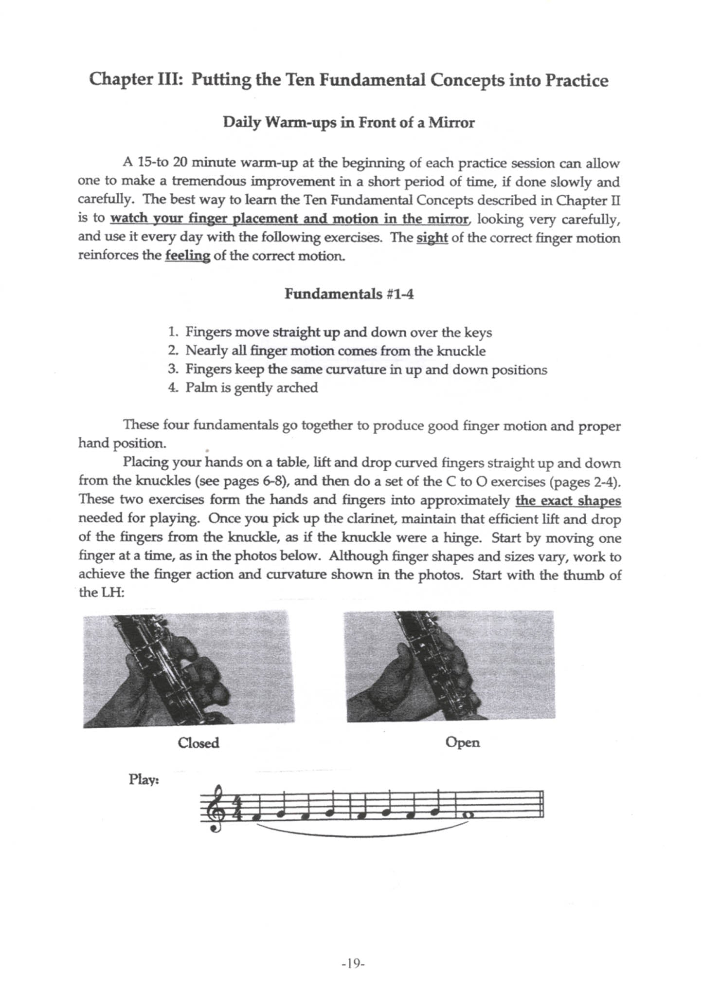 Hand & Finger Development for Clarinetists Page 19
