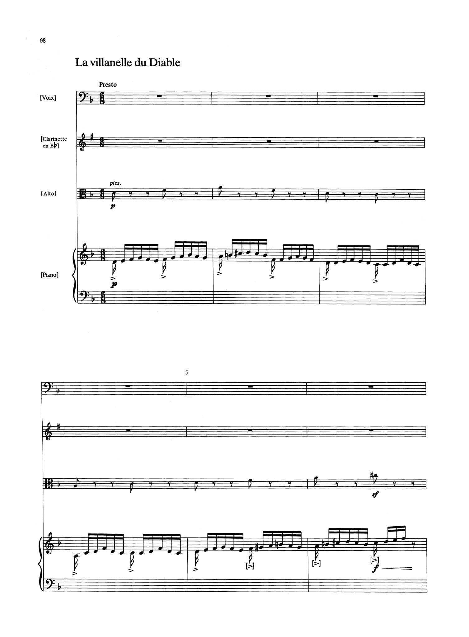 Loeffler, Charles Martin_Selected Songs with Chamber Accompaniment (score)