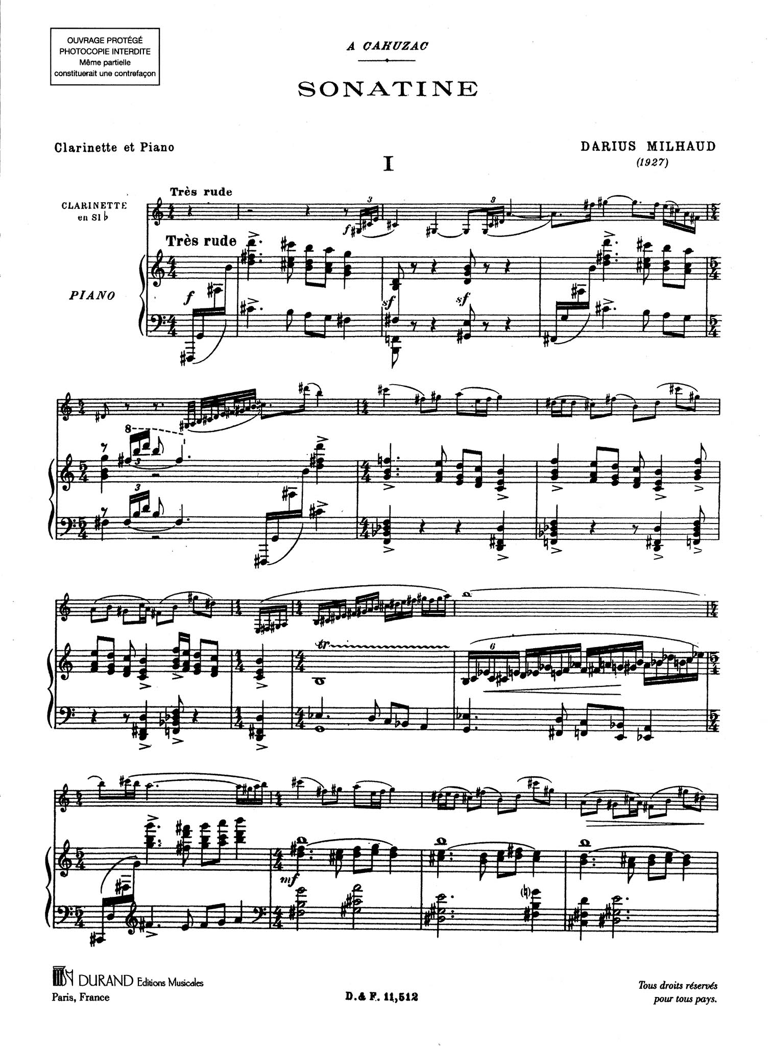 Sonatina, Op. 100 - Movement 1