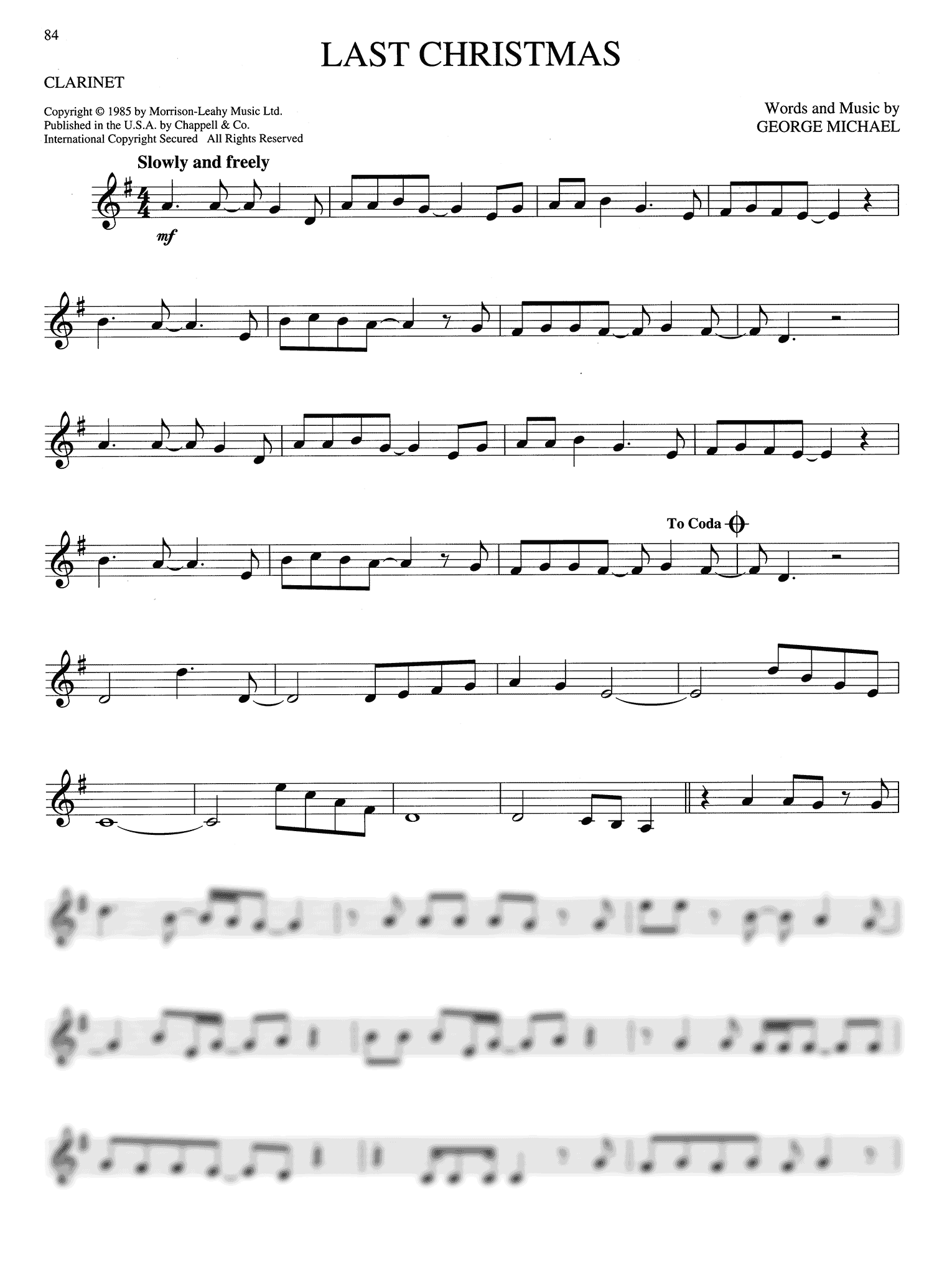 Big Book of Christmas Songs Clarinet Page 84