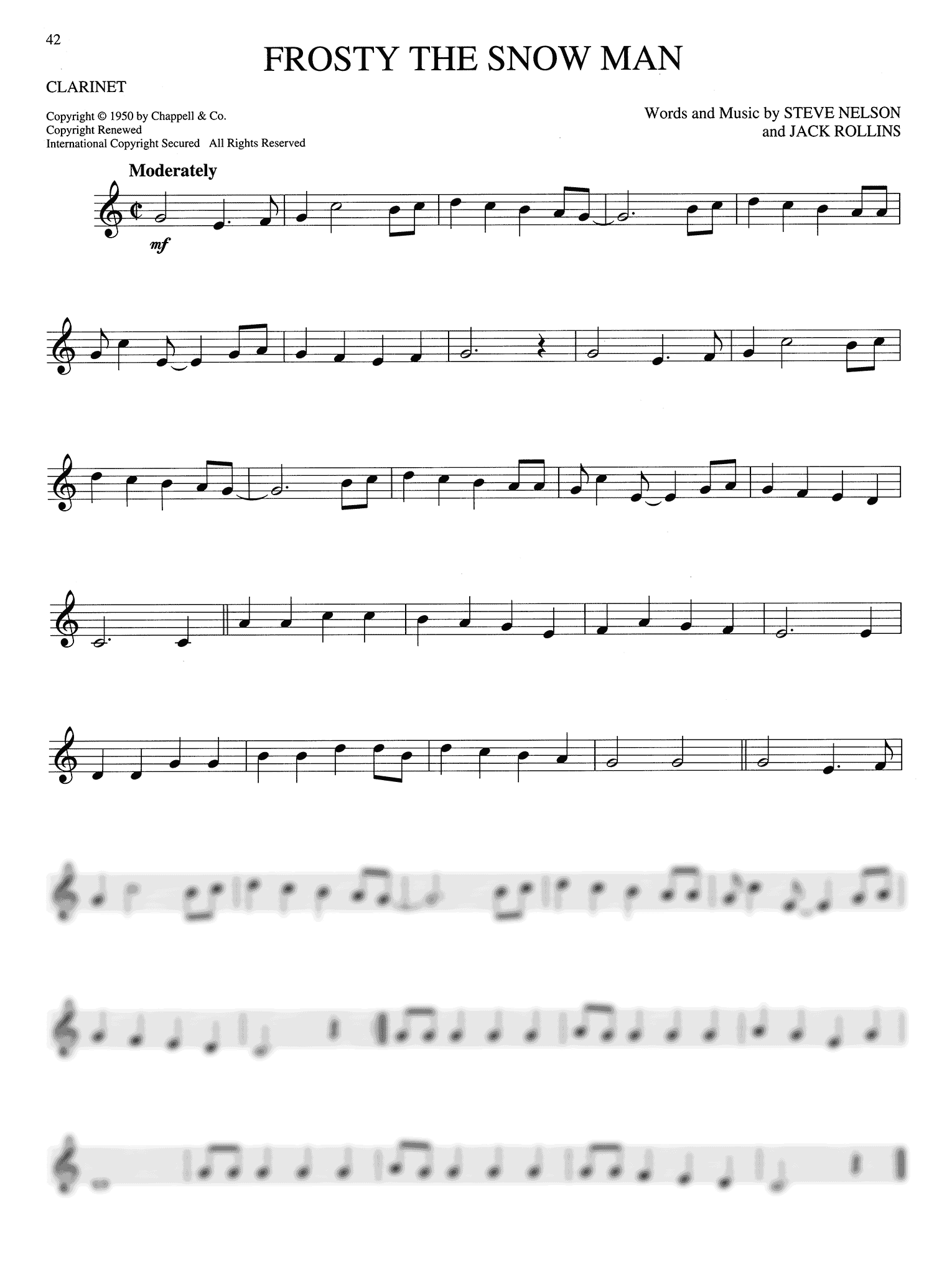 Big Book of Christmas Songs Clarinet Page 42