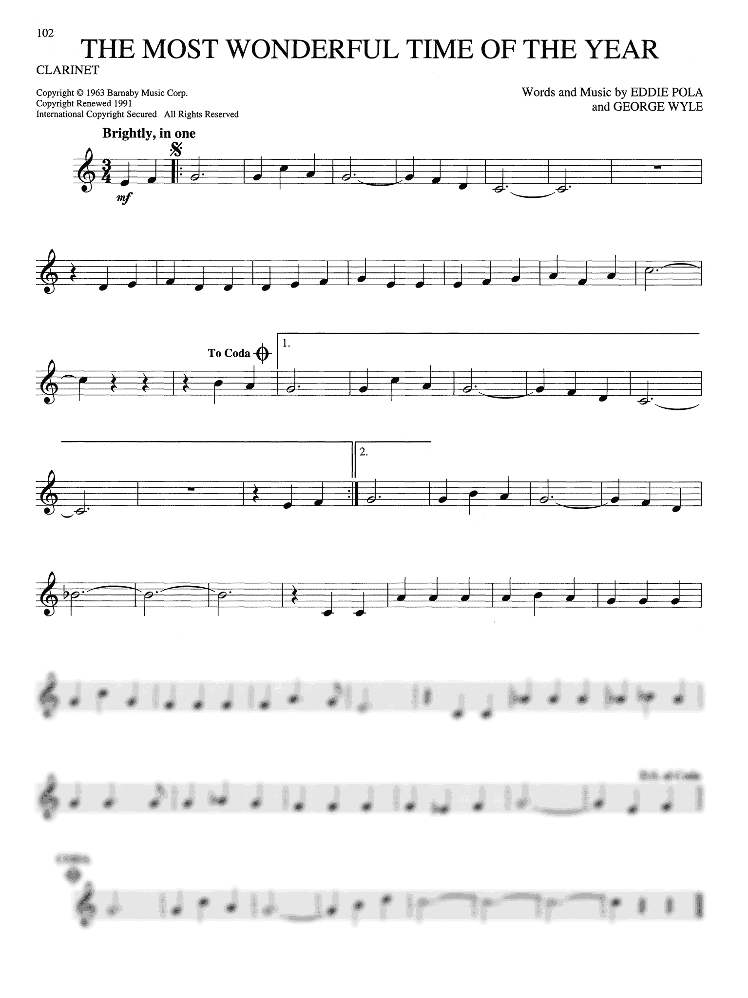 Big Book of Christmas Songs Clarinet Page 102