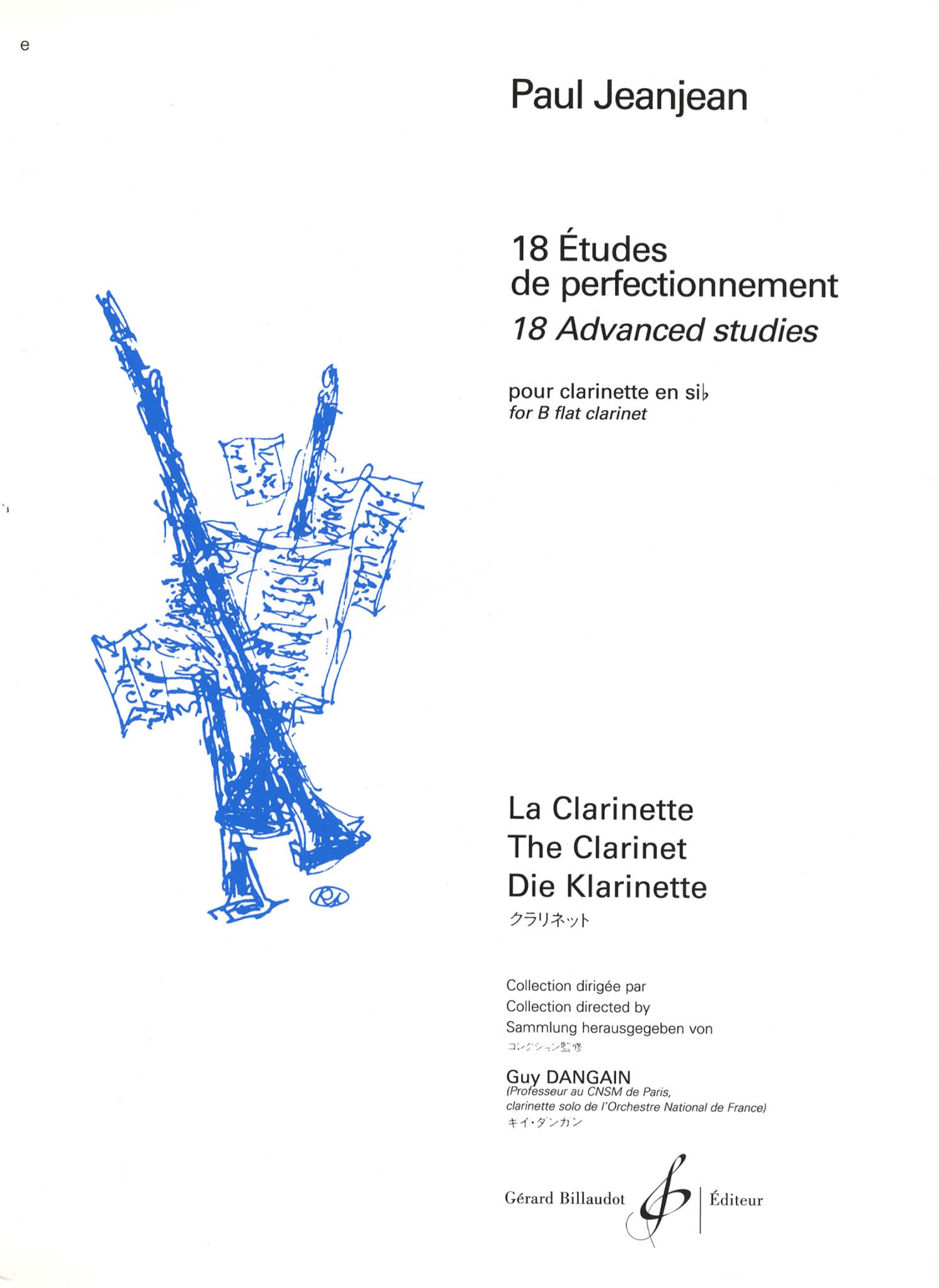 18 Advanced Studies for B-Flat Clarinet Cover