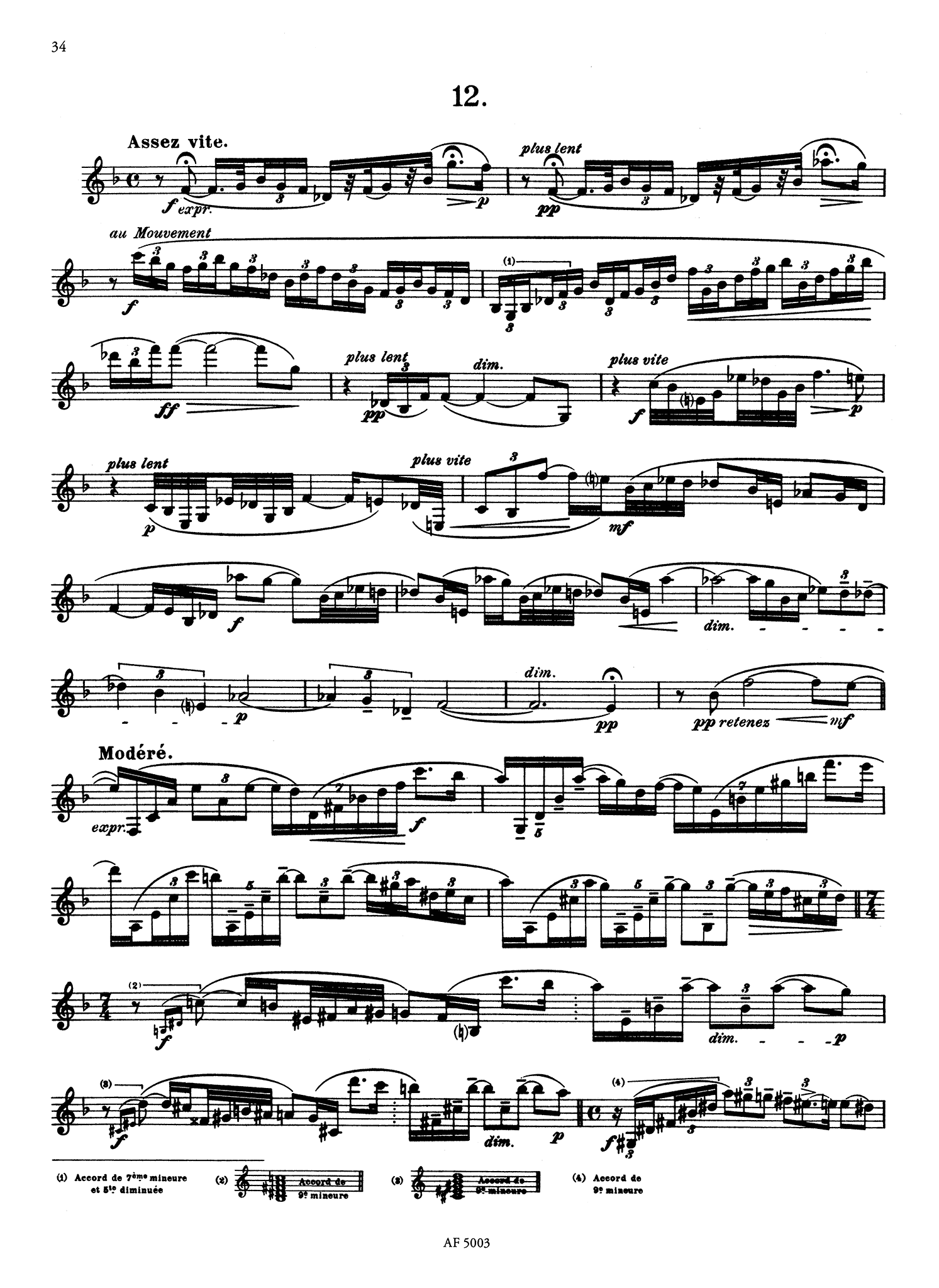 18 Advanced Studies for B-Flat Clarinet Page 34