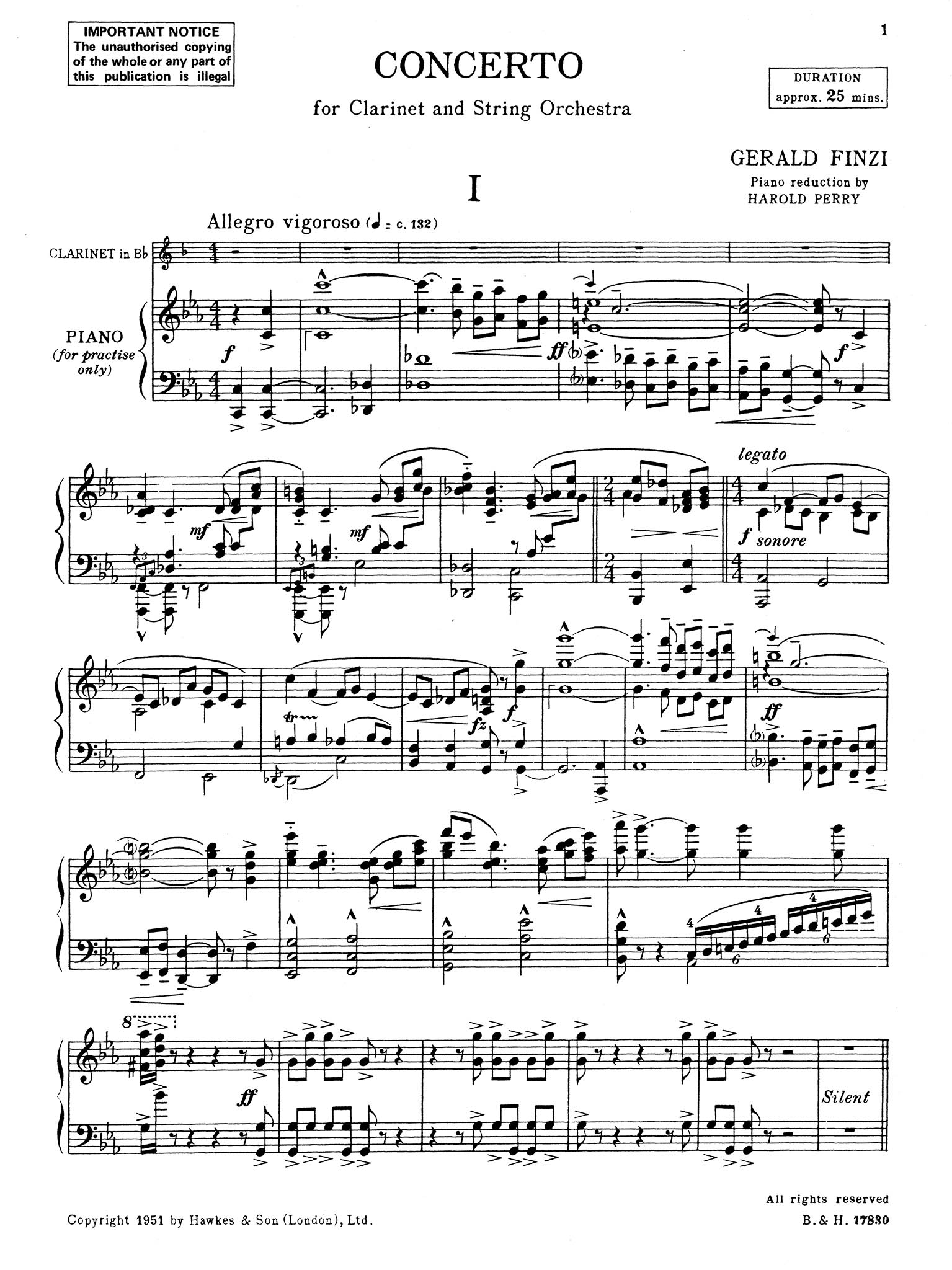 Clarinet Concerto, Op. 31 - Movement 1