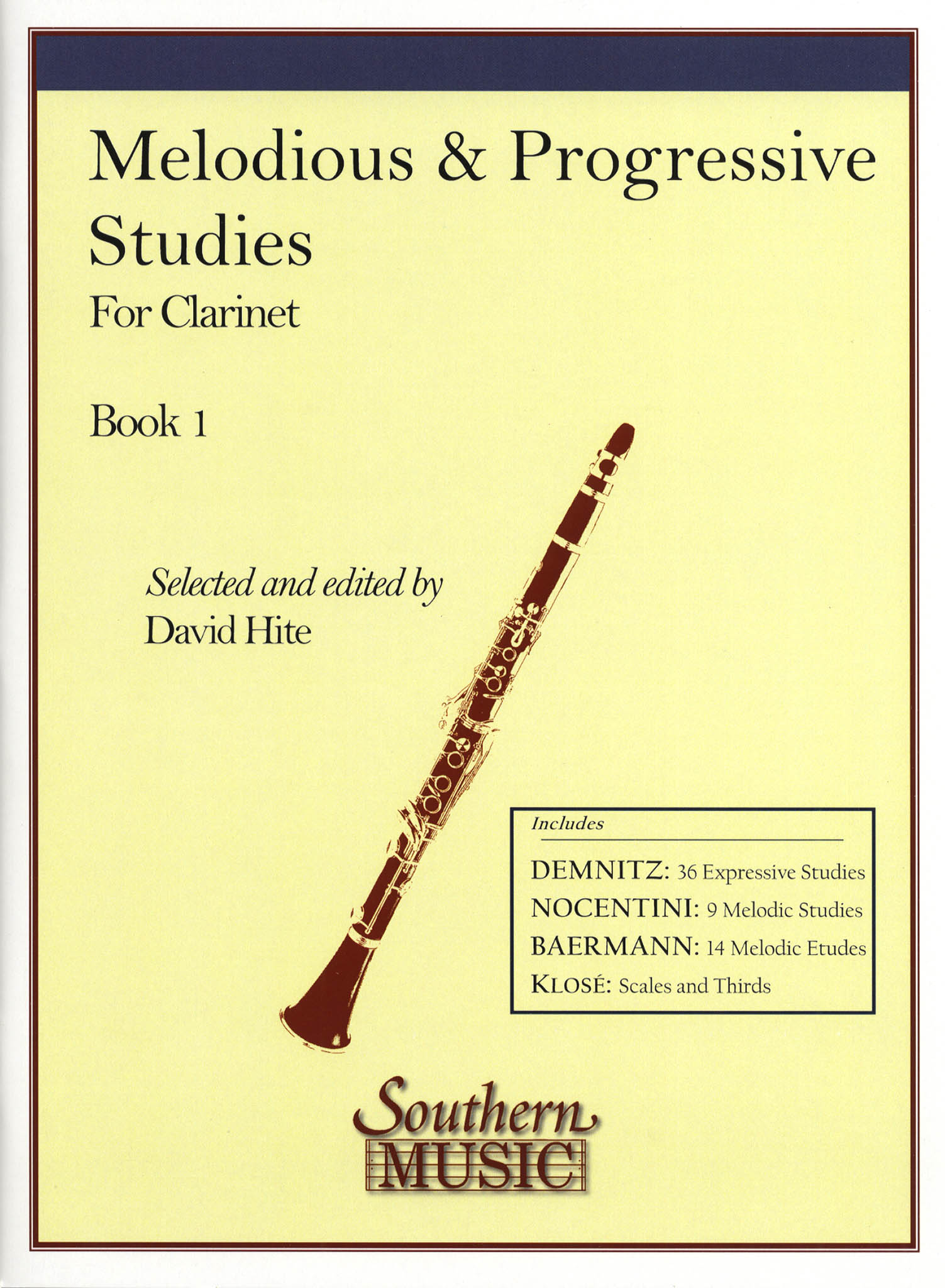 Melodious & Progressive Studies for Clarinet, Book 1 Cover