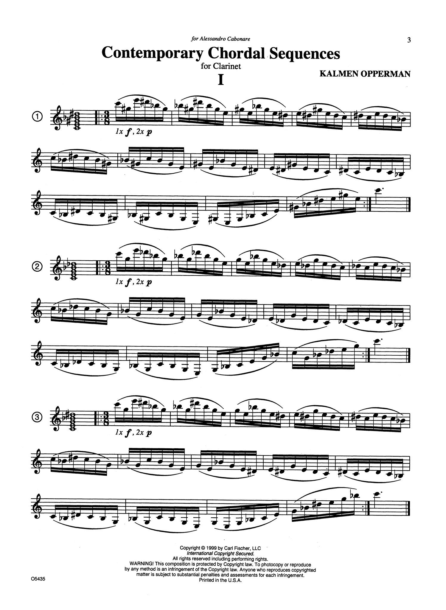 Advanced Contemporary Chordal Sequences for Clarinet Page 3