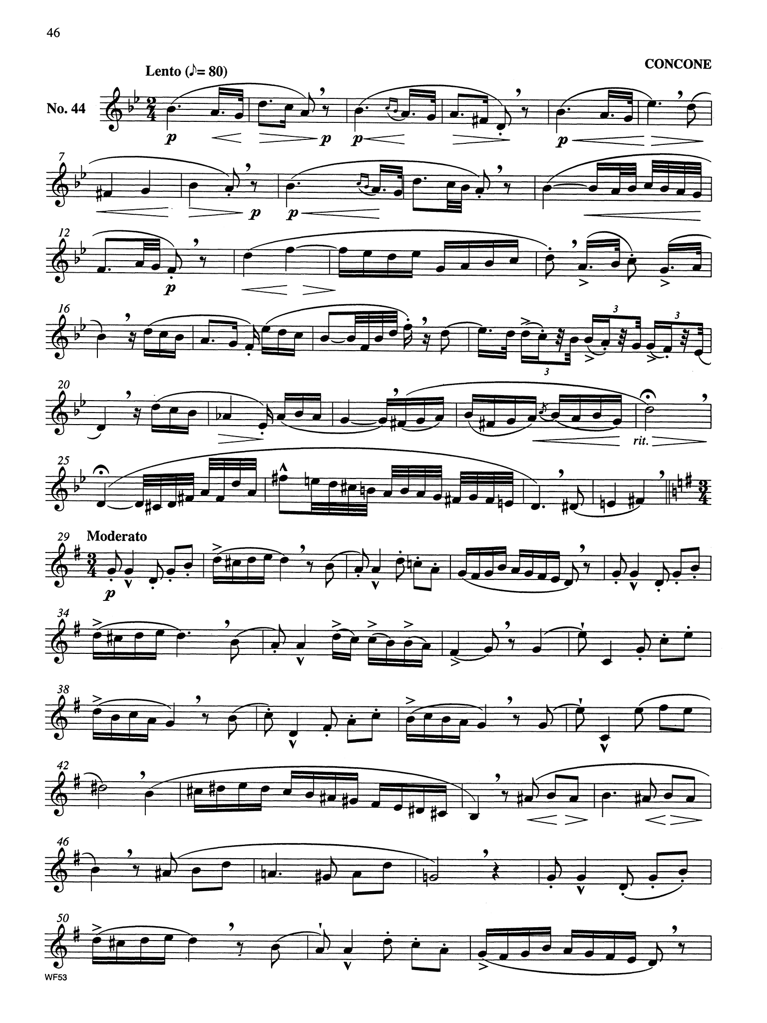 Studies in Lyricism for Clarinet in B-flat for the Advancing Student Page 46