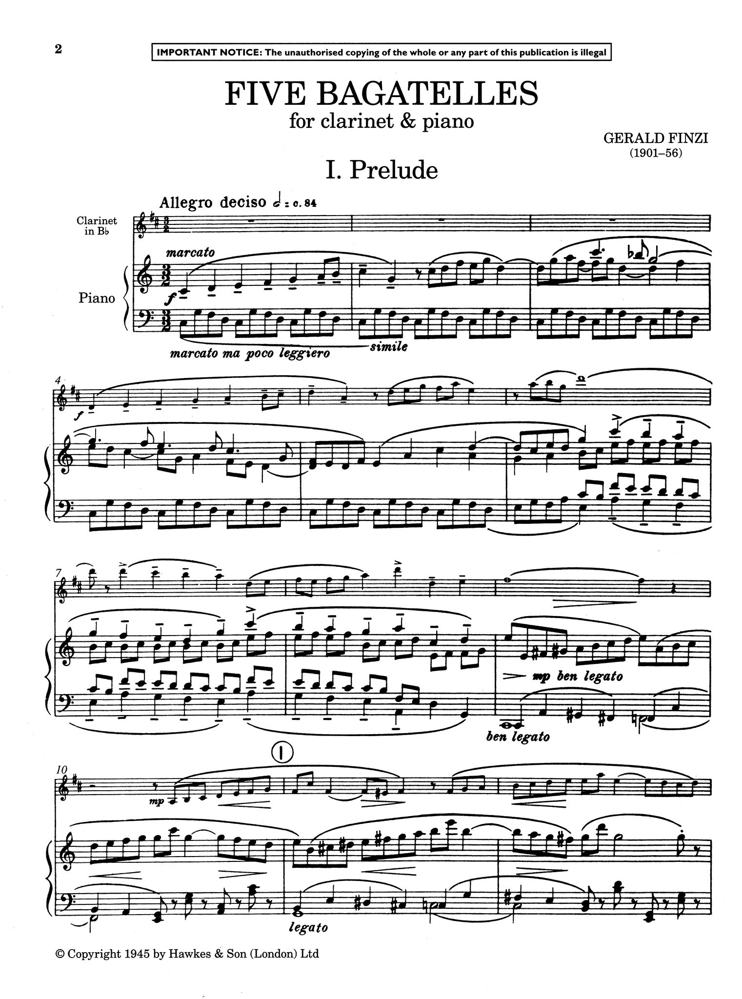 Five Bagatelles, Op. 23 - Movement 1