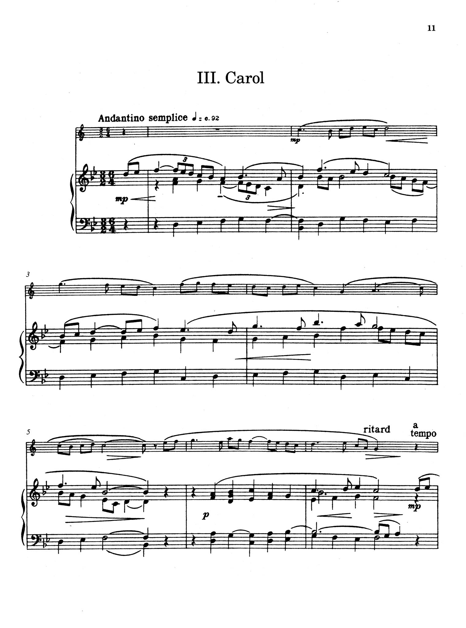 Five Bagatelles, Op. 23 - Movement 3