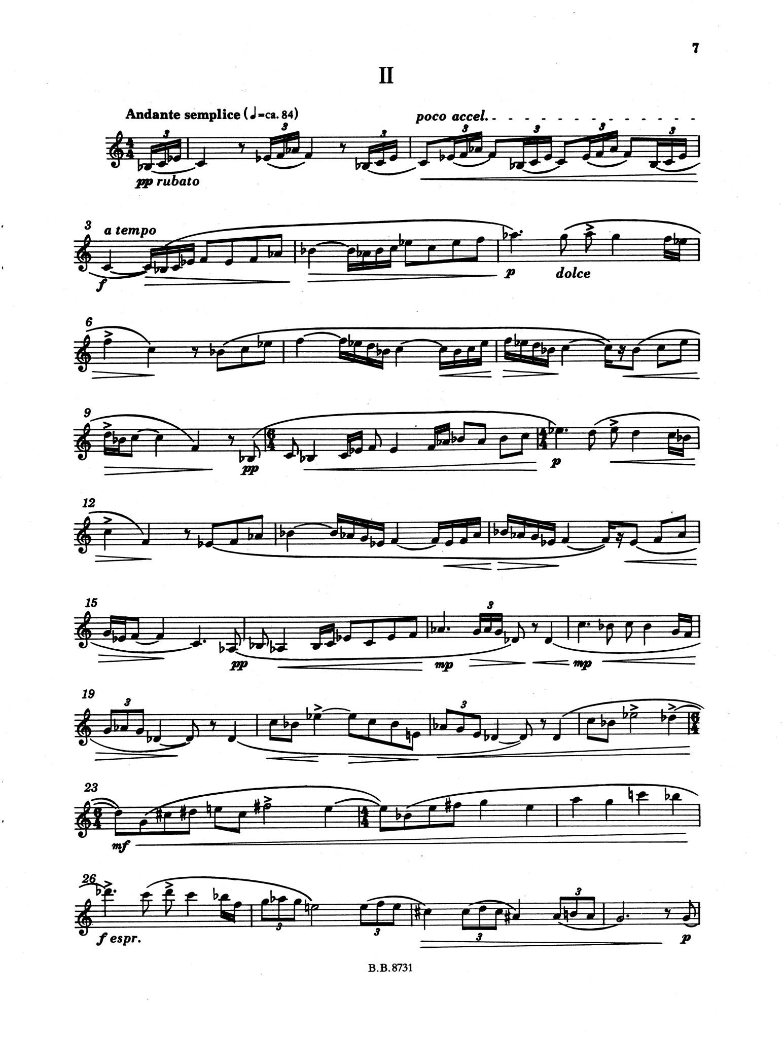 Sonata for Clarinet Solo, Op. 41 - Movement 2