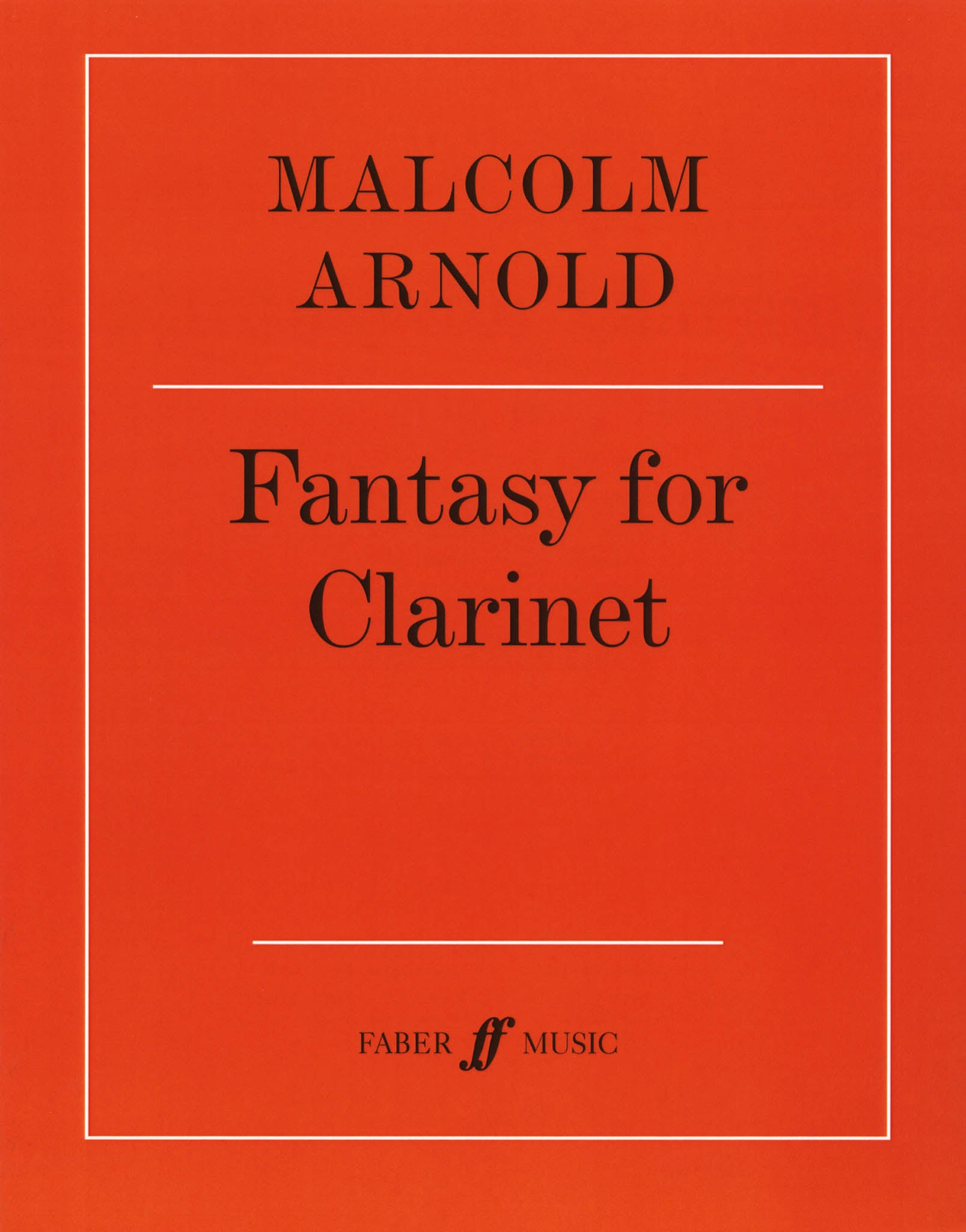 Arnold Fantasy for Clarinet, Op. 87 Cover