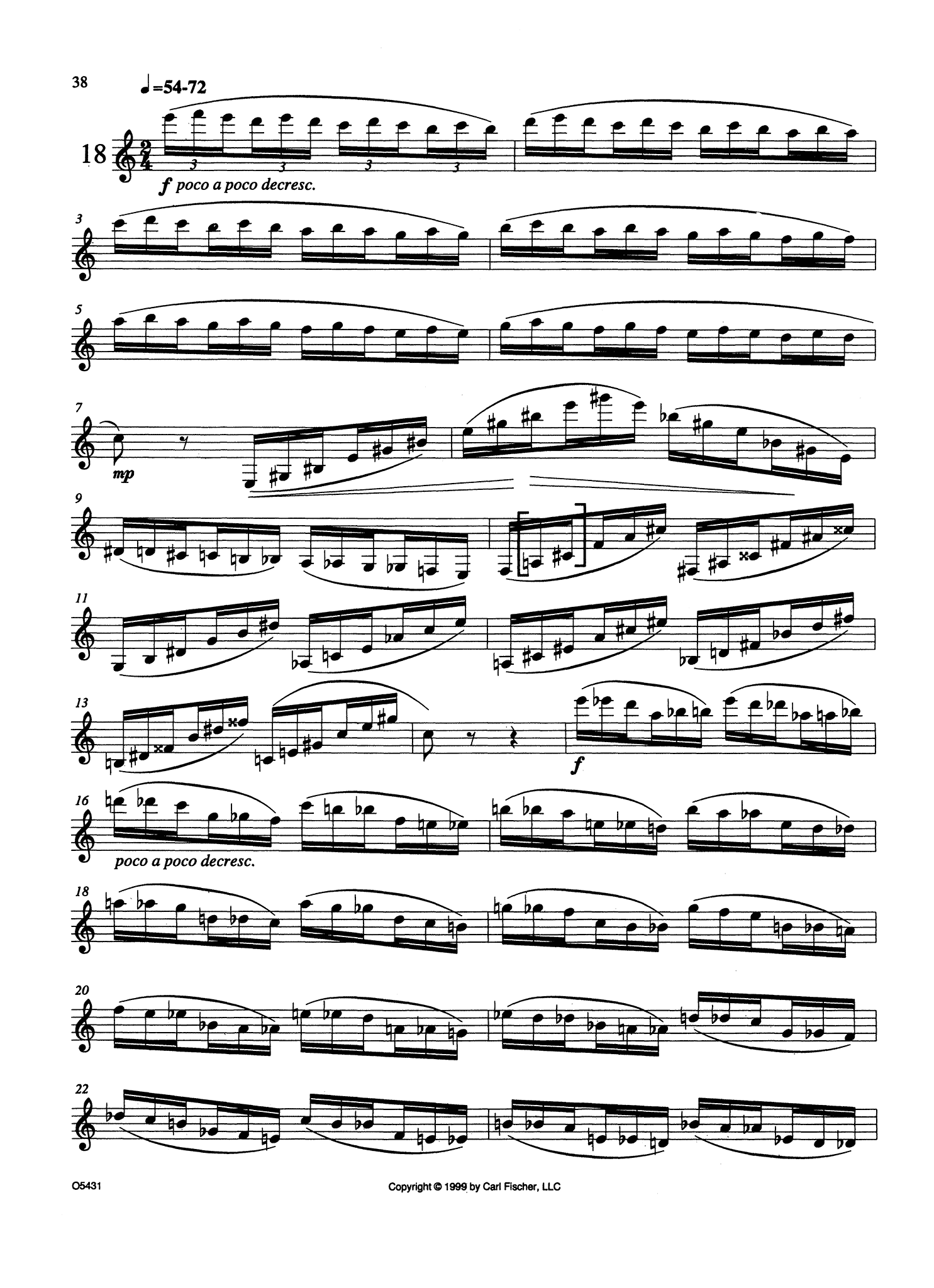 Virtuoso Velocity Studies for Clarinet Page 38