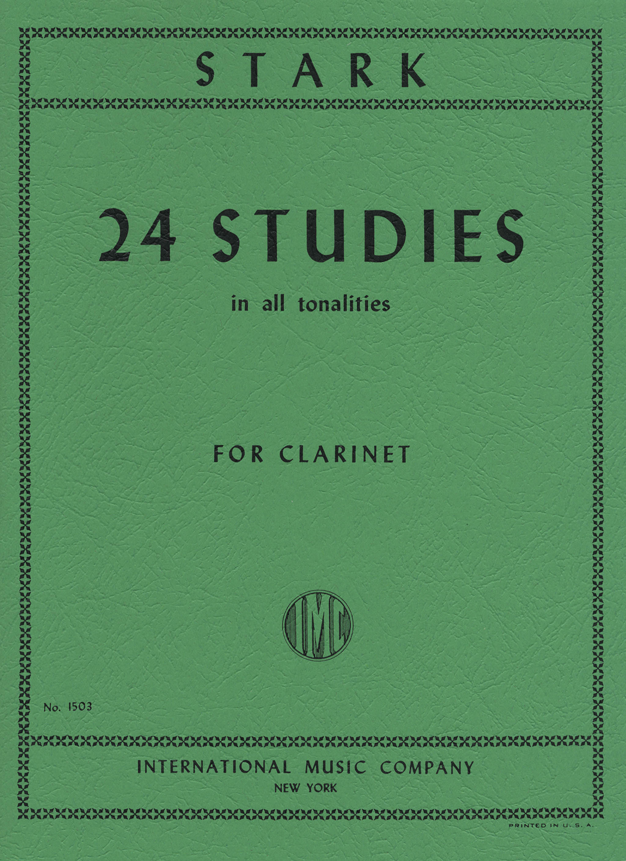 Stark: 24 Studies in All Tonalities Cover