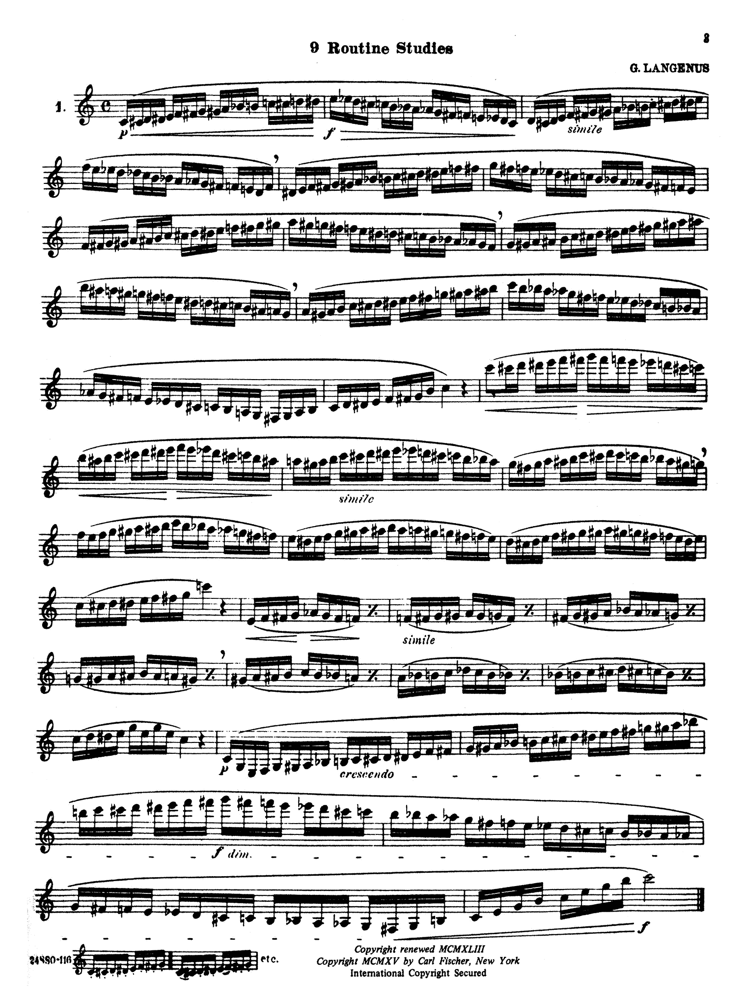 Complete Method for the Clarinet, Book 3 Page 3