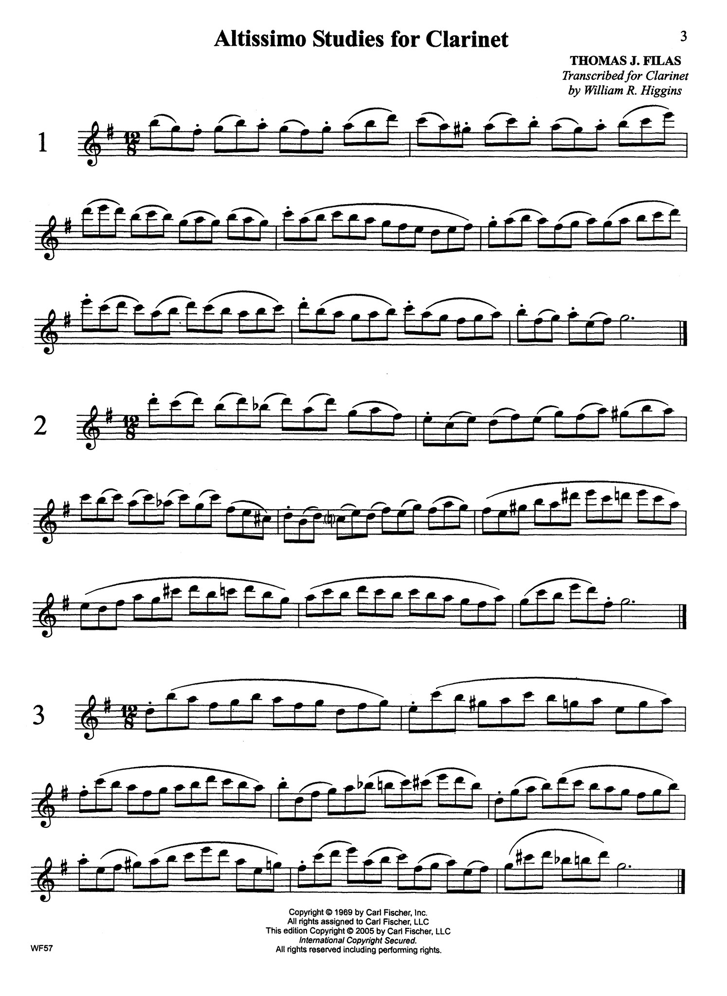 Altissimo Studies for Clarinet Page 3