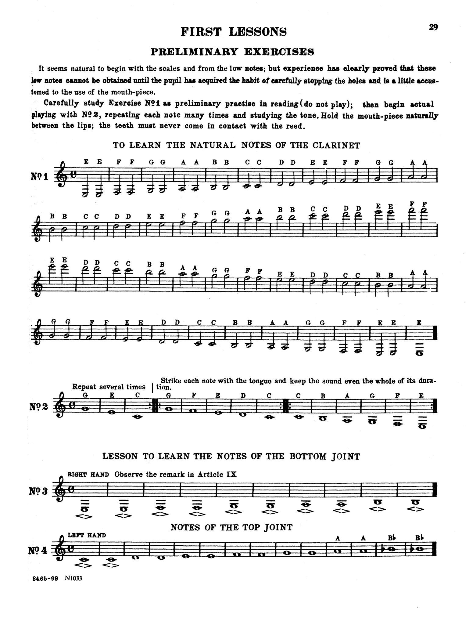 Method for Clarinet Page 29