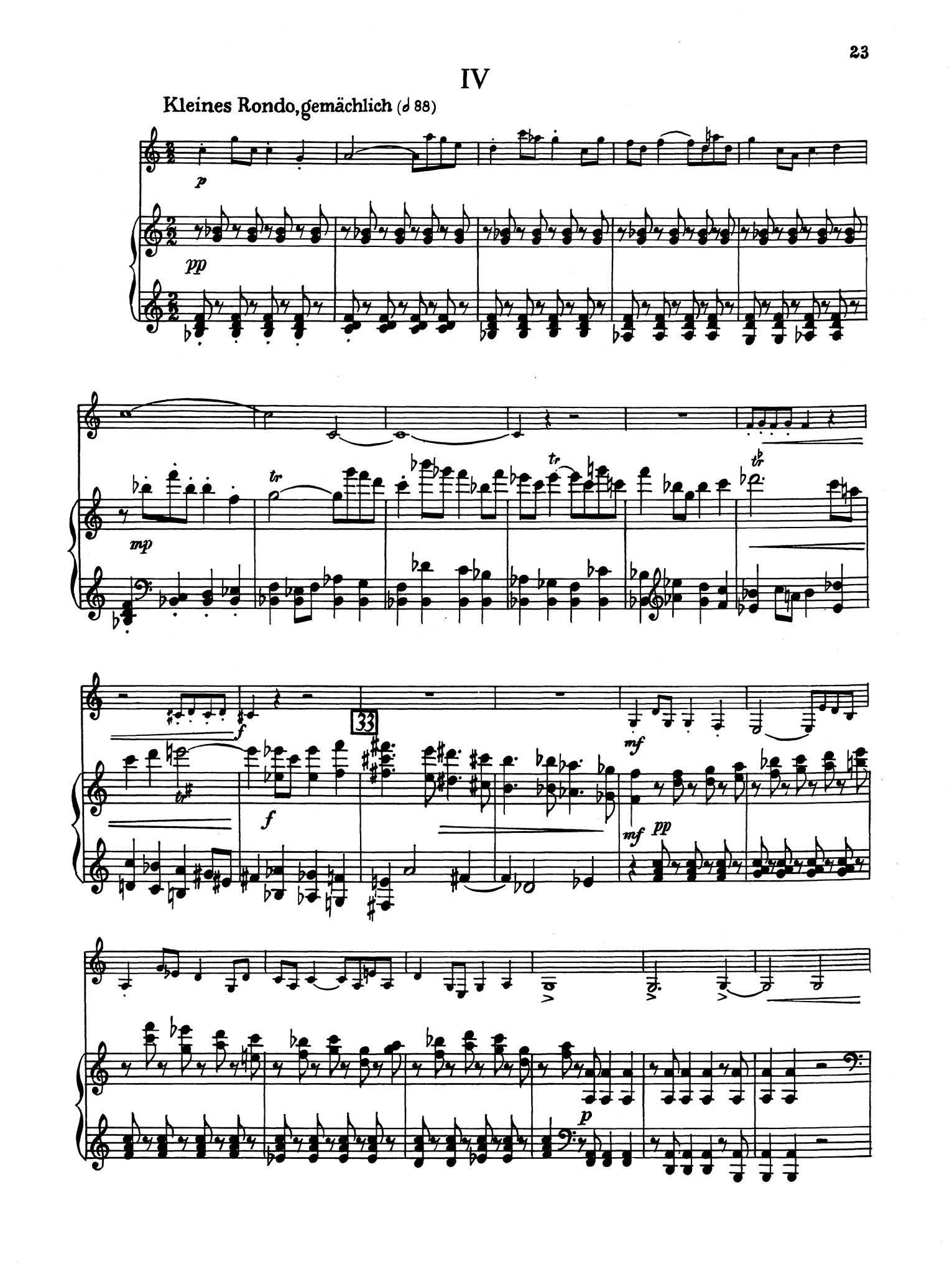 Sonata in B-flat Major - Movement 4