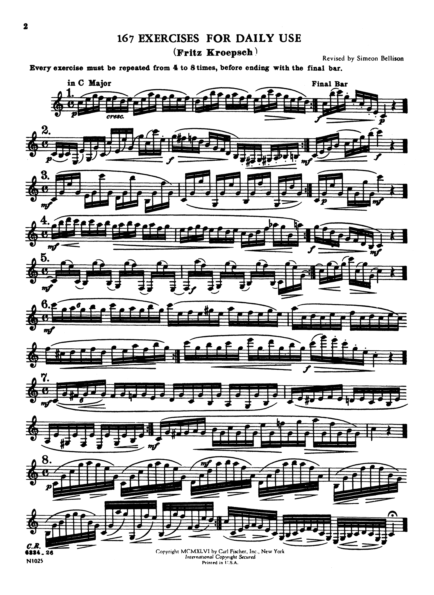416 Progressive Studies for Clarinet, Book 1 Page 2