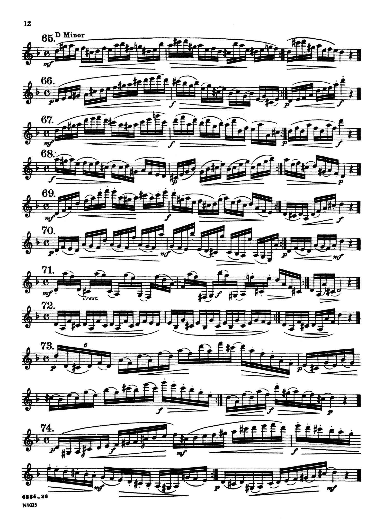 416 Progressive Studies for Clarinet, Book 1 Page 12