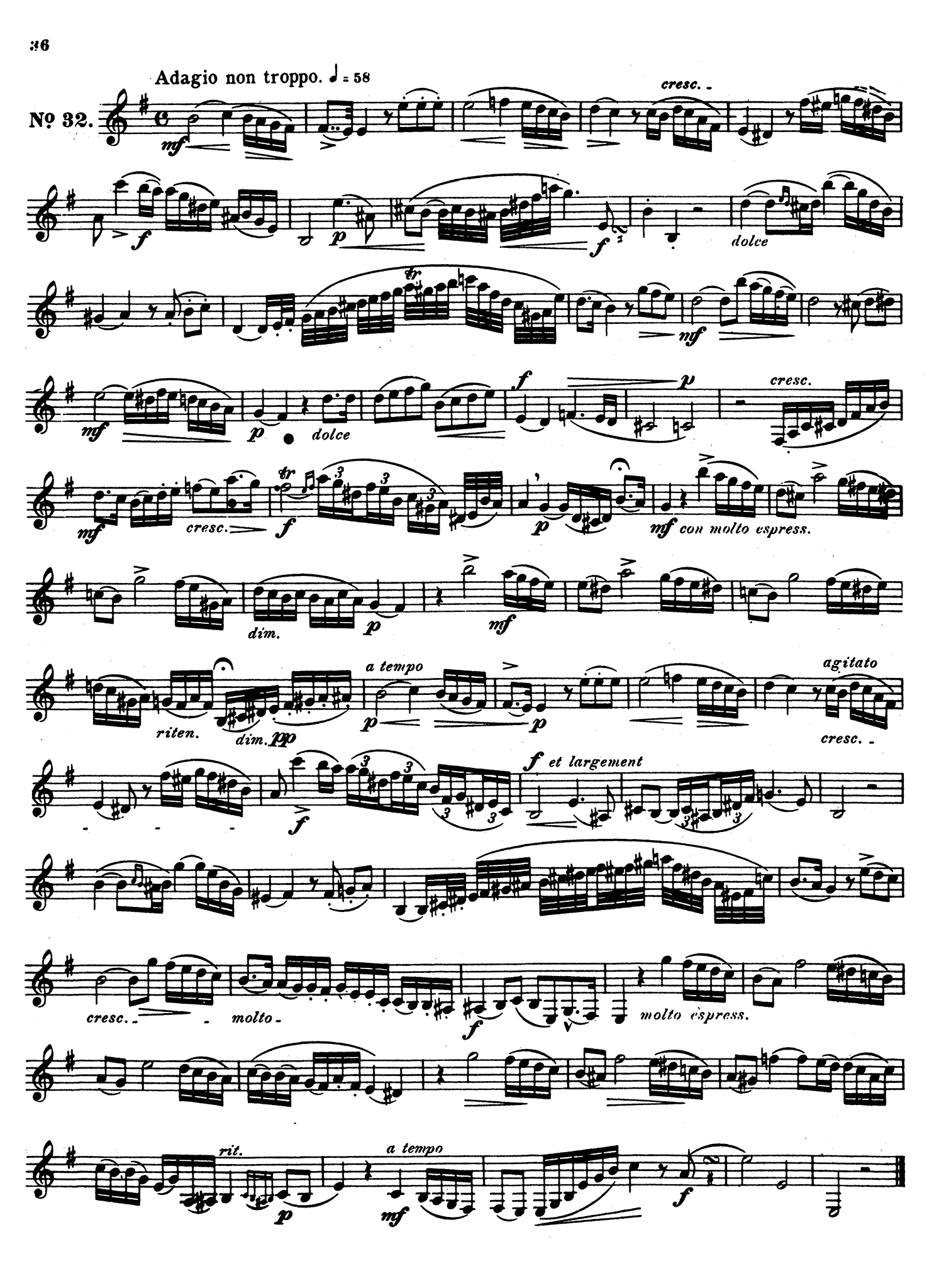 40 Etudes for Clarinet, Book 2 of 2 Page 36