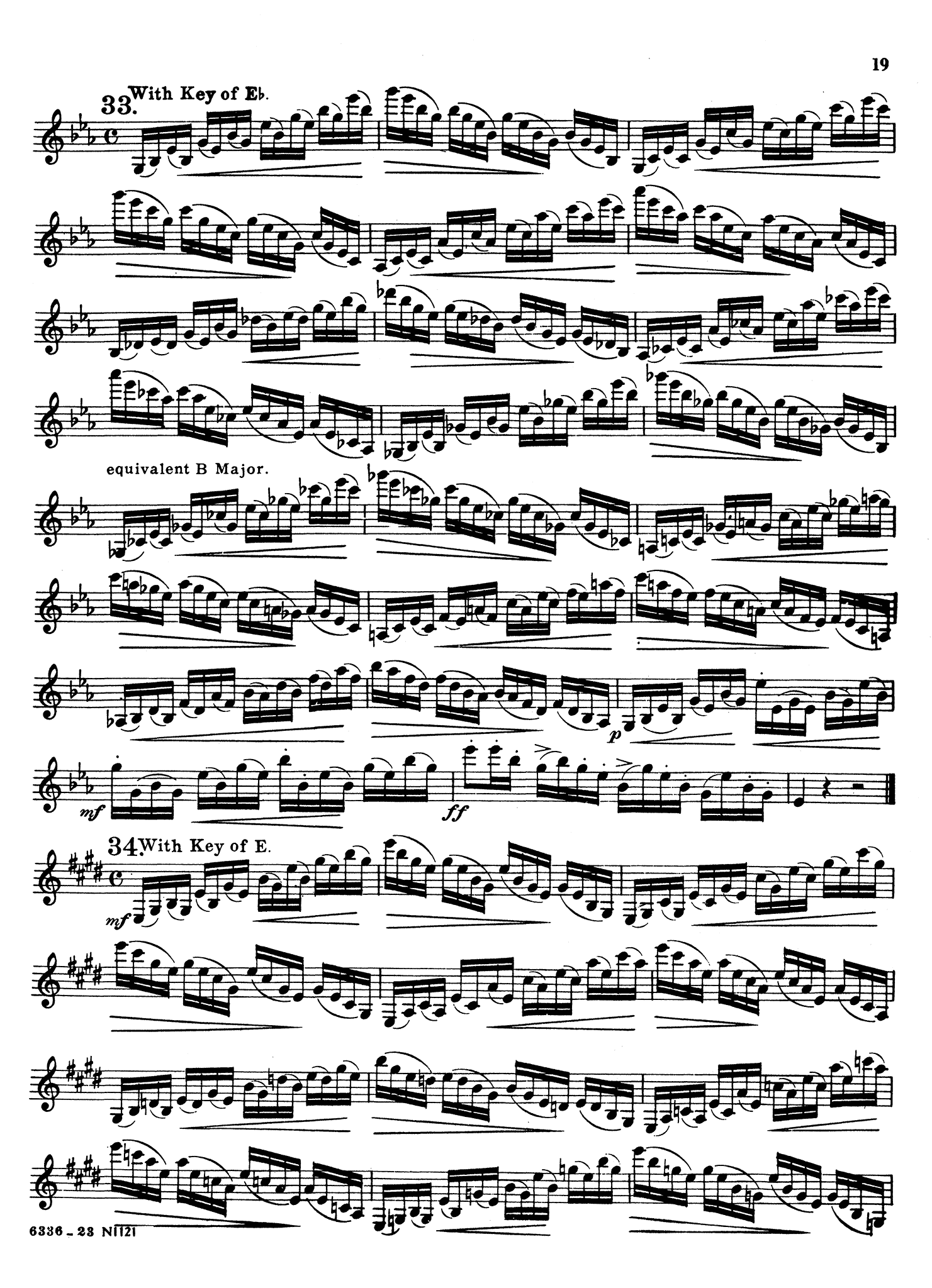 416 Progressive Studies for Clarinet, Book 3 Page 19