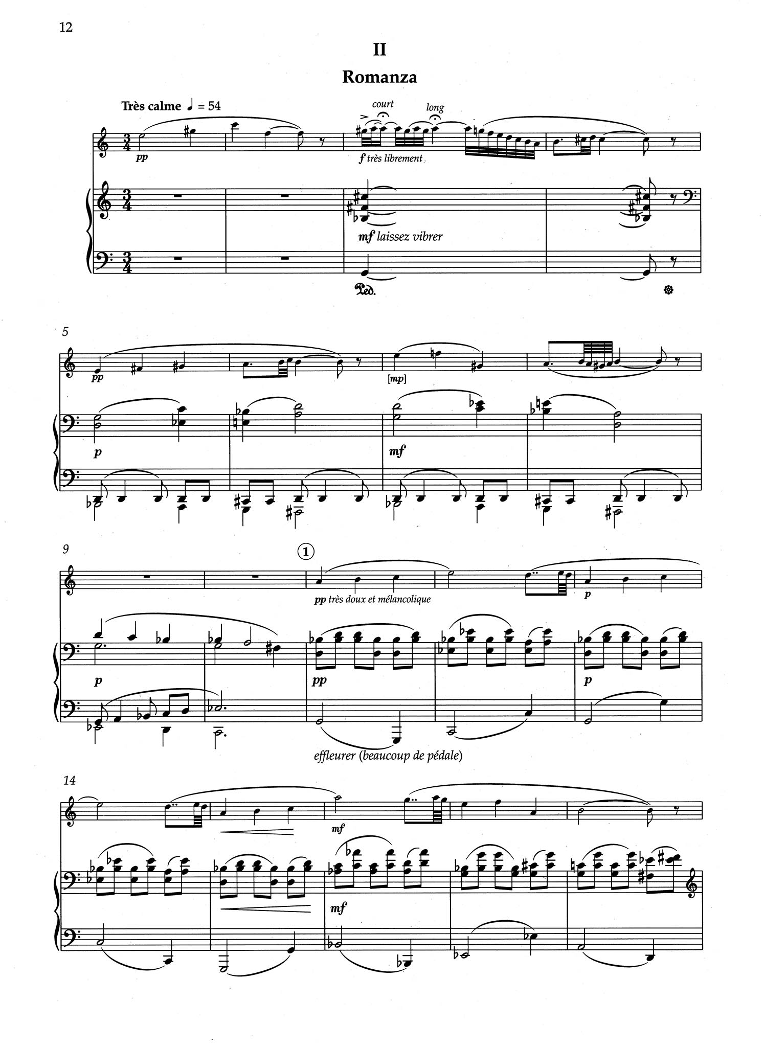 Sonata for Clarinet & Piano - Movement 2
