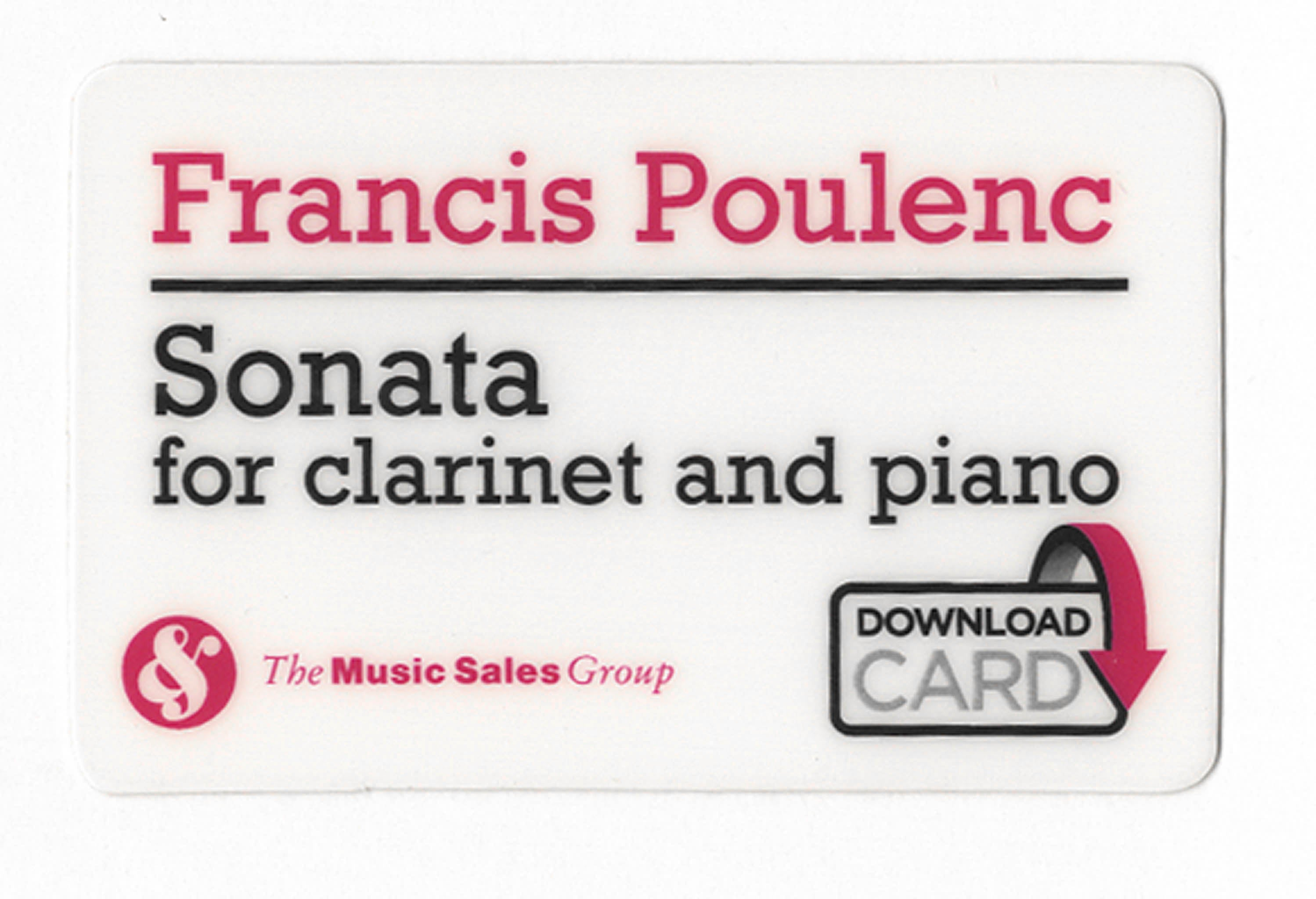 Sonata for Clarinet & Piano Audio