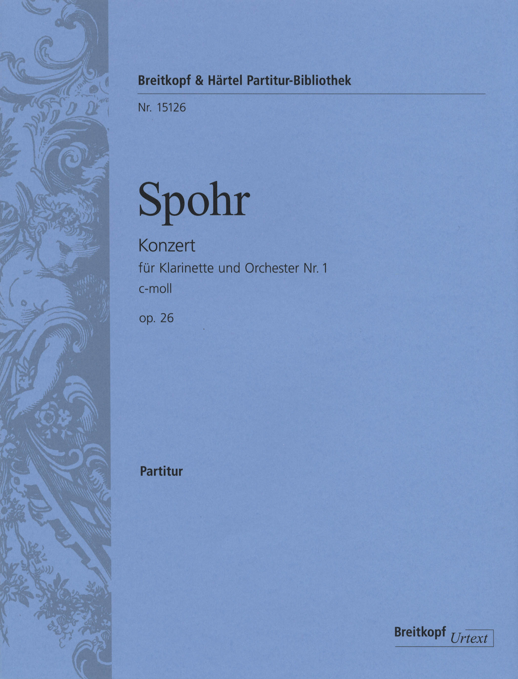 Spohr Clarinet Concerto No. 1 in C Minor, Op. 26 Cover